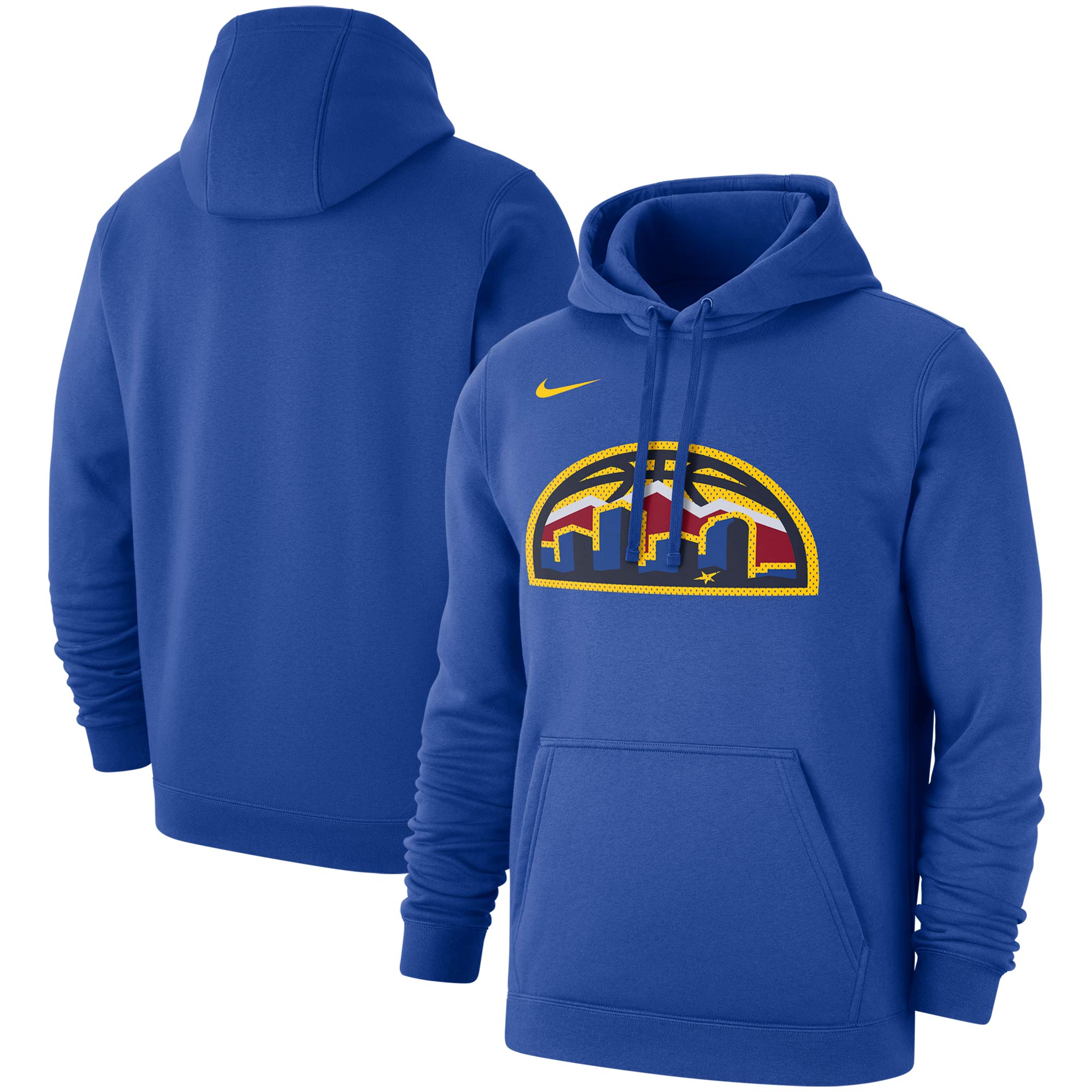 Denver Nuggets Nike 2019/20 Statement Edition Club Pullover Hoodie - Blue
