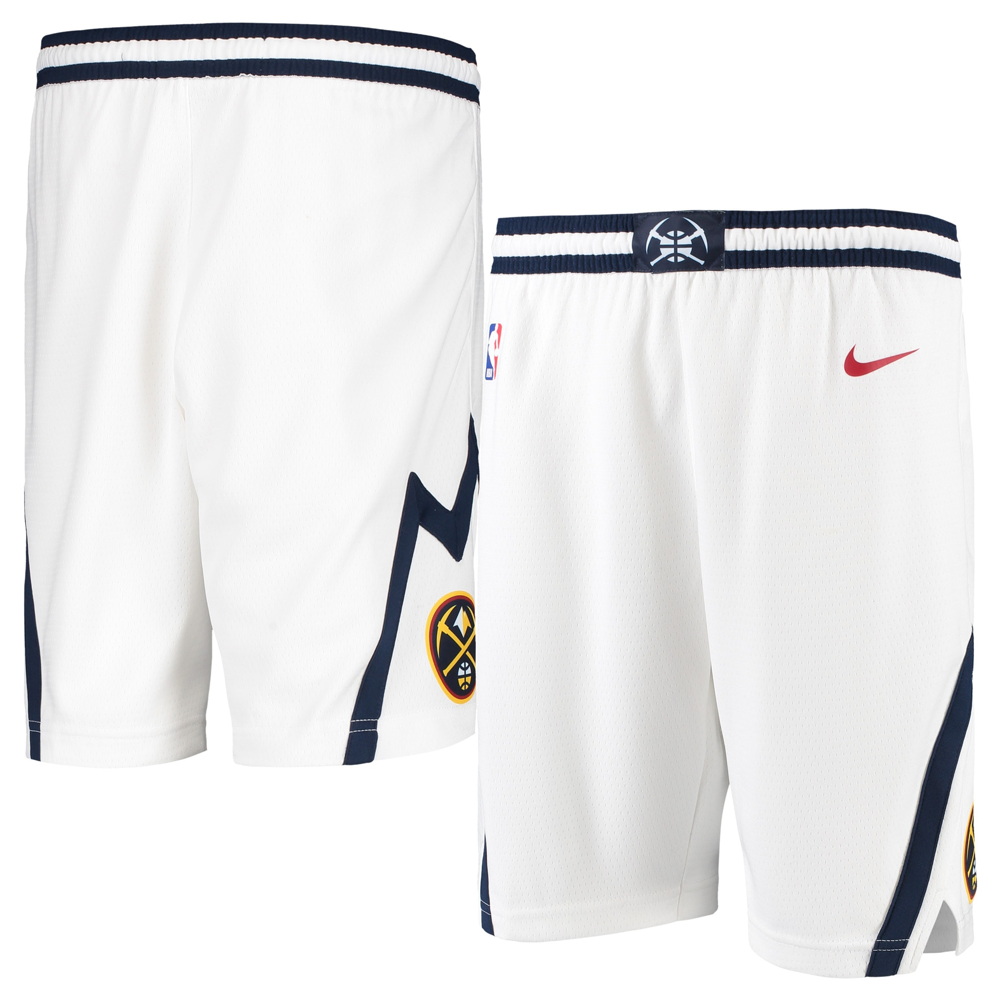 Denver Nuggets Nike Youth Swingman Association Short - White