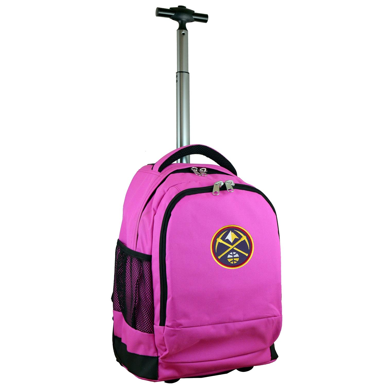 Denver Nuggets 19'' Premium Wheeled Backpack - Pink