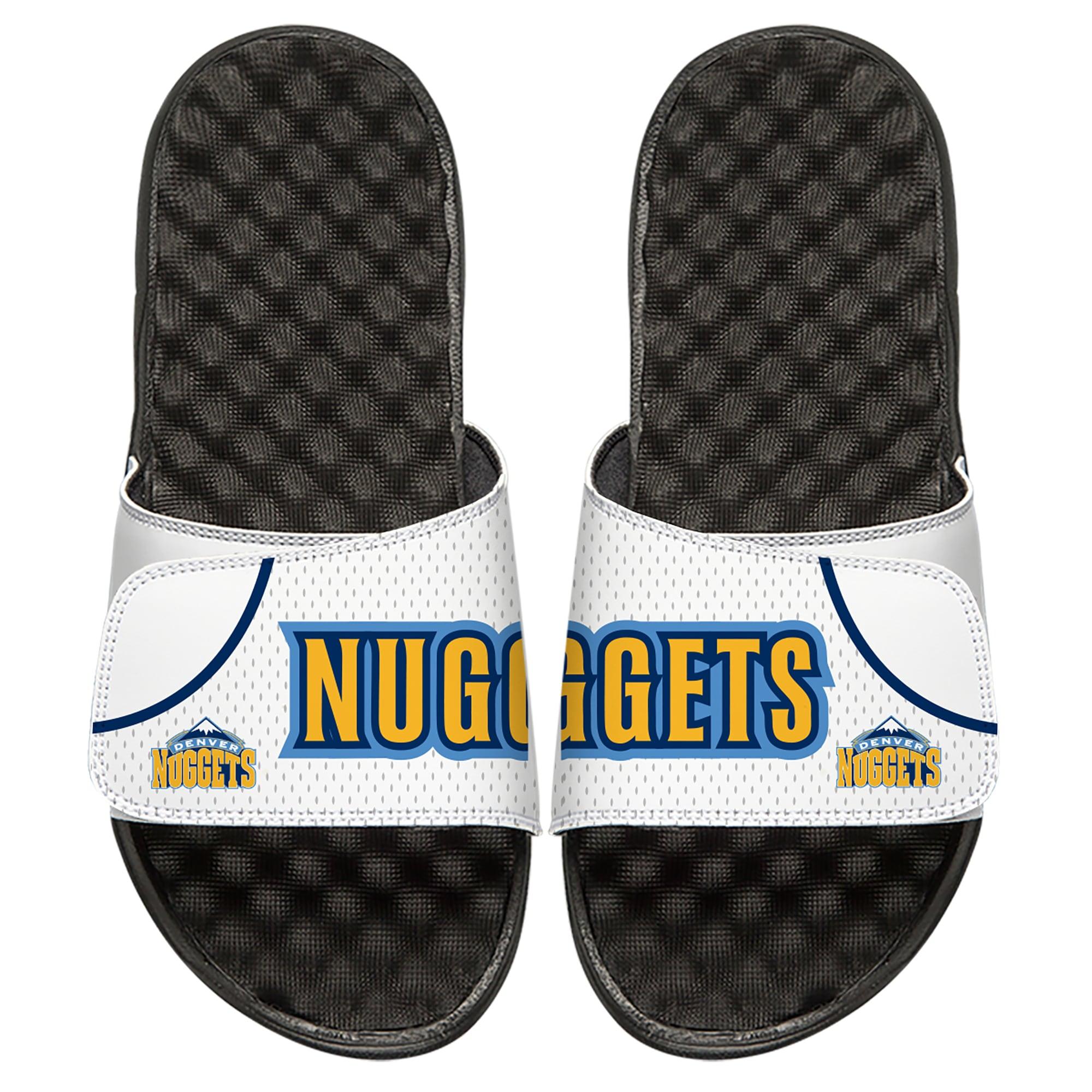 Denver Nuggets ISlide Home Jersey Split Slide Sandals - White