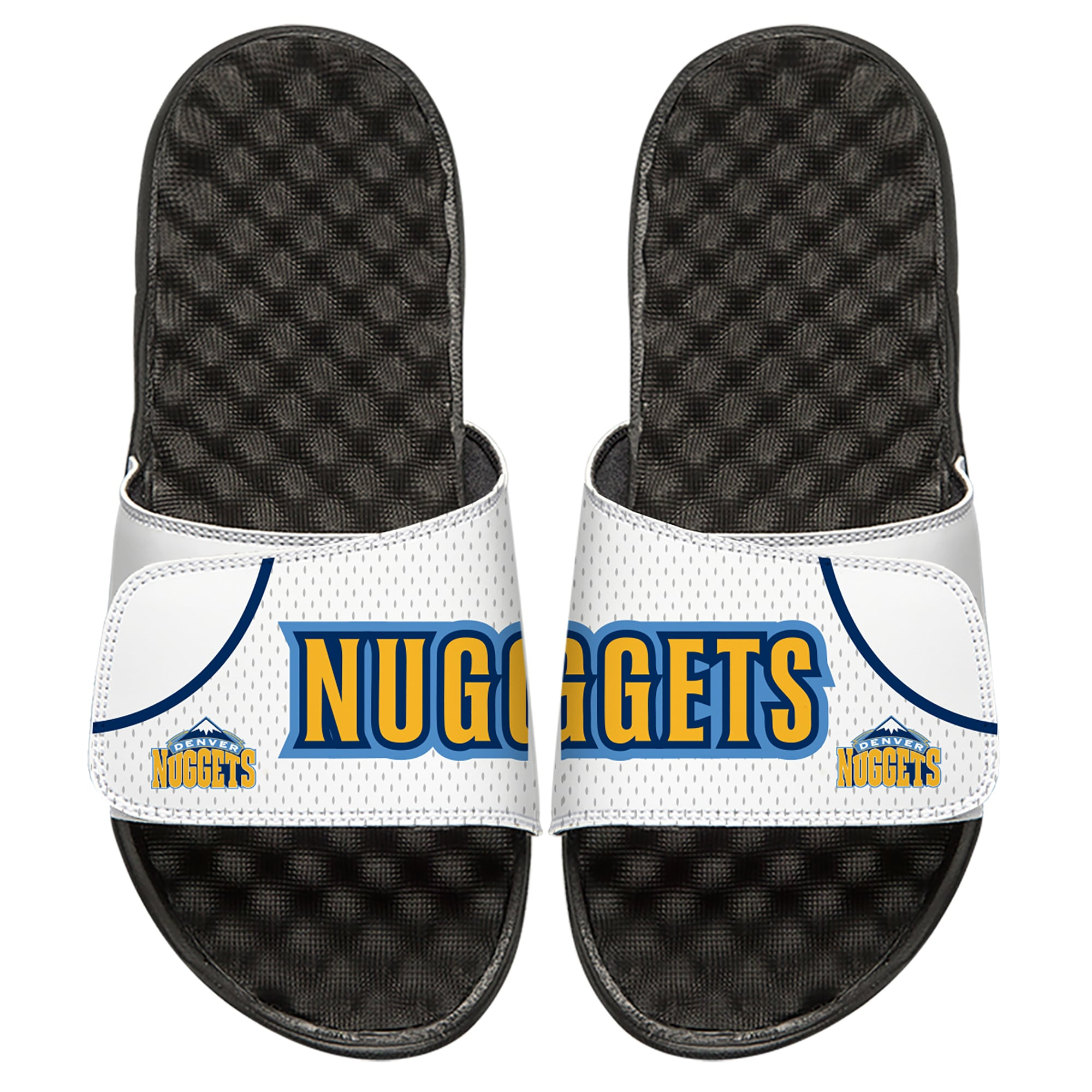 Denver Nuggets ISlide Youth Home Jersey Slide Sandals - White
