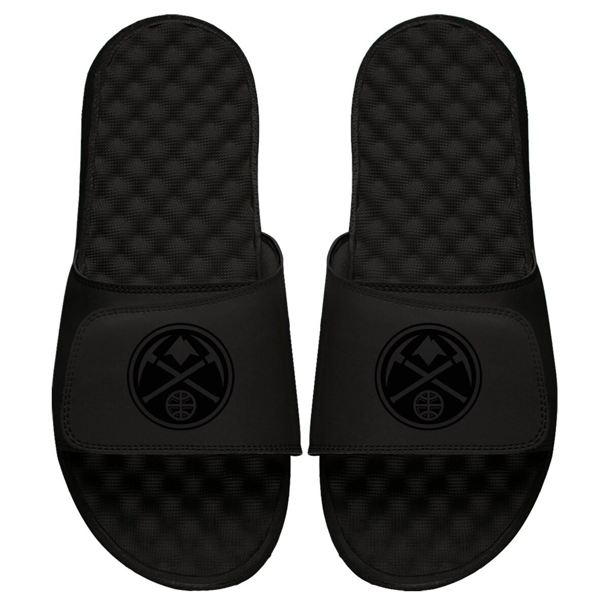 Denver Nuggets ISlide Youth Tonal Slide Sandals - Black