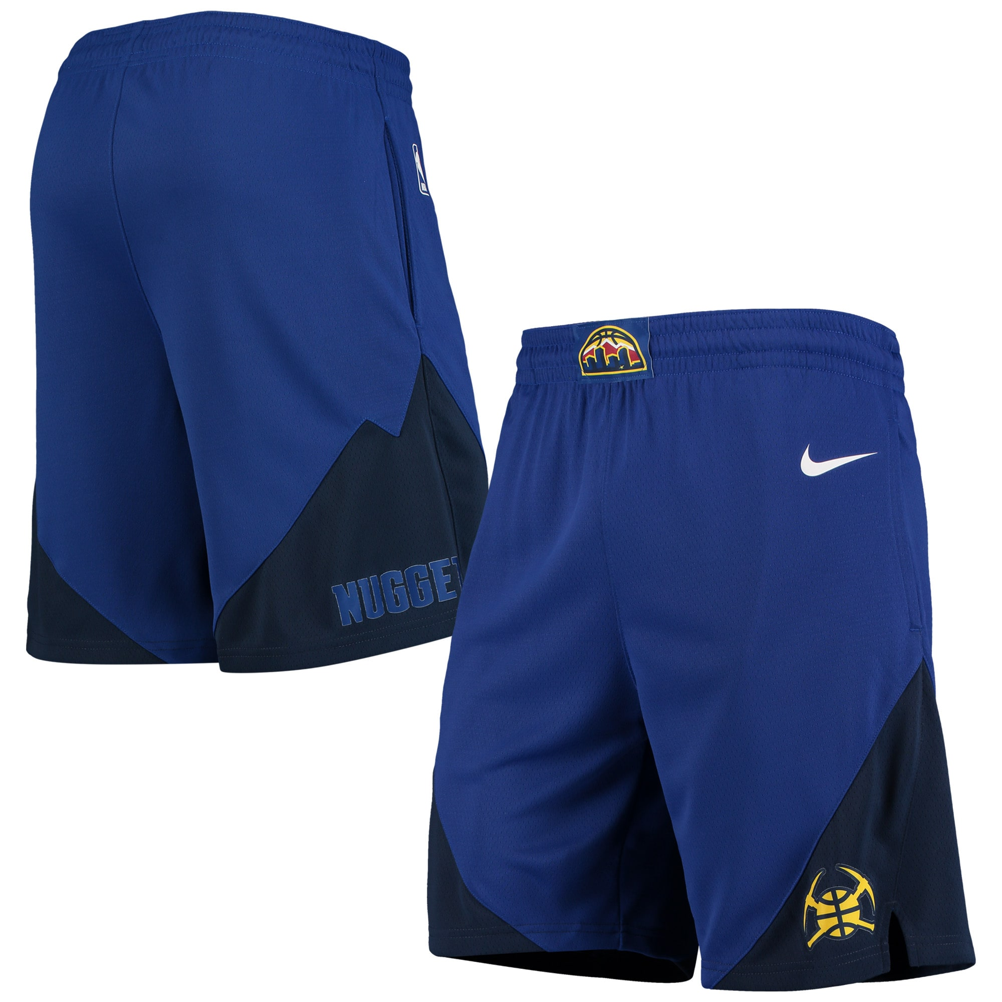Denver Nuggets Nike 2019/20 Statement Edition Swingman Shorts - Blue