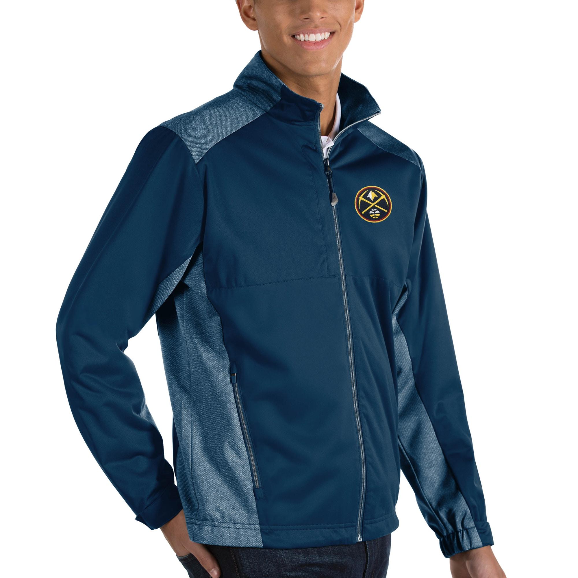 Denver Nuggets Antigua Revolve Full-Zip Jacket - Navy