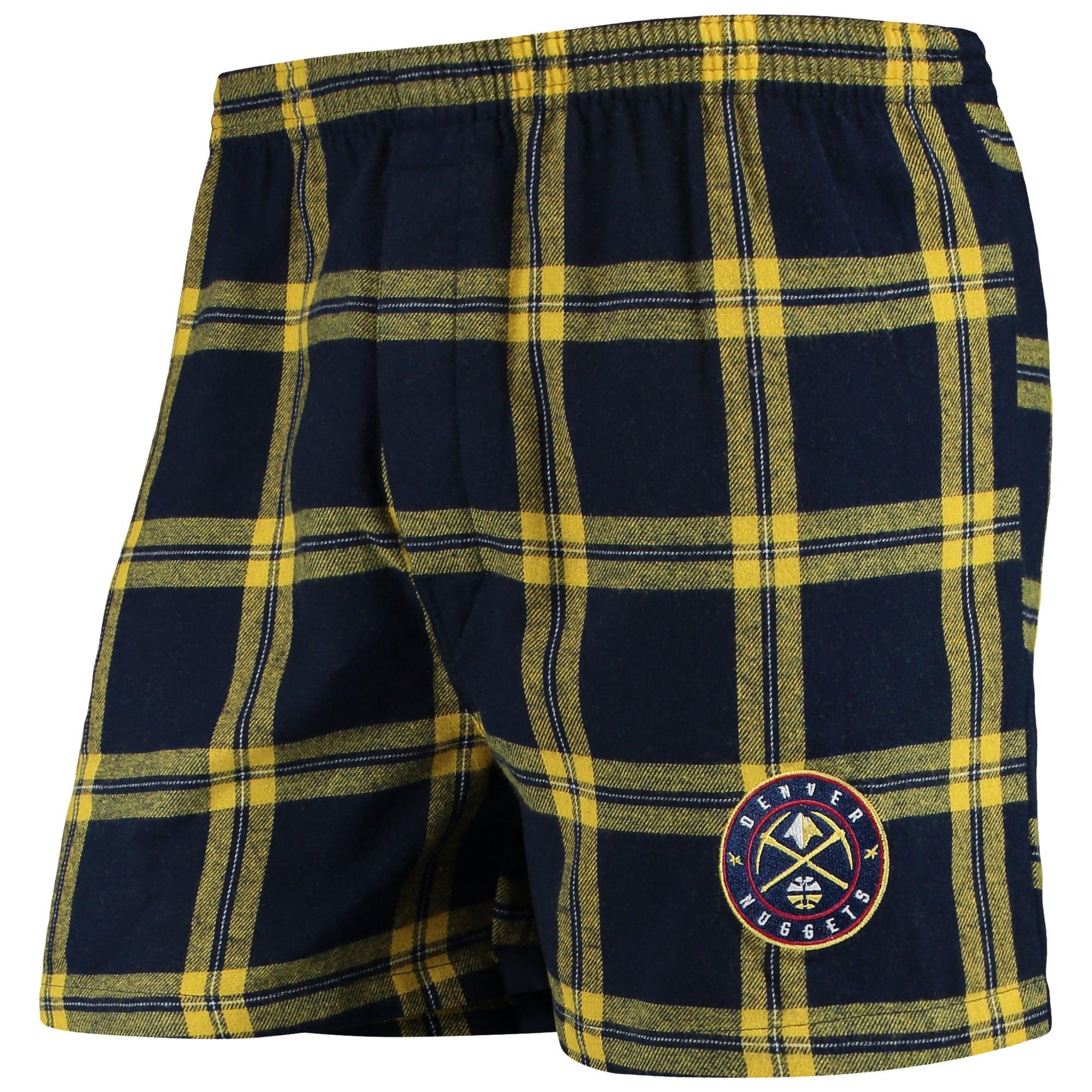 Denver Nuggets Concepts Sport Homestretch Flannel Boxer Shorts - Navy
