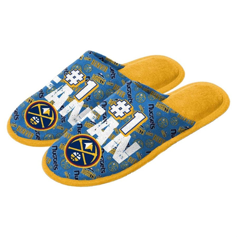 Denver Nuggets Youth Scuff Slide Slippers