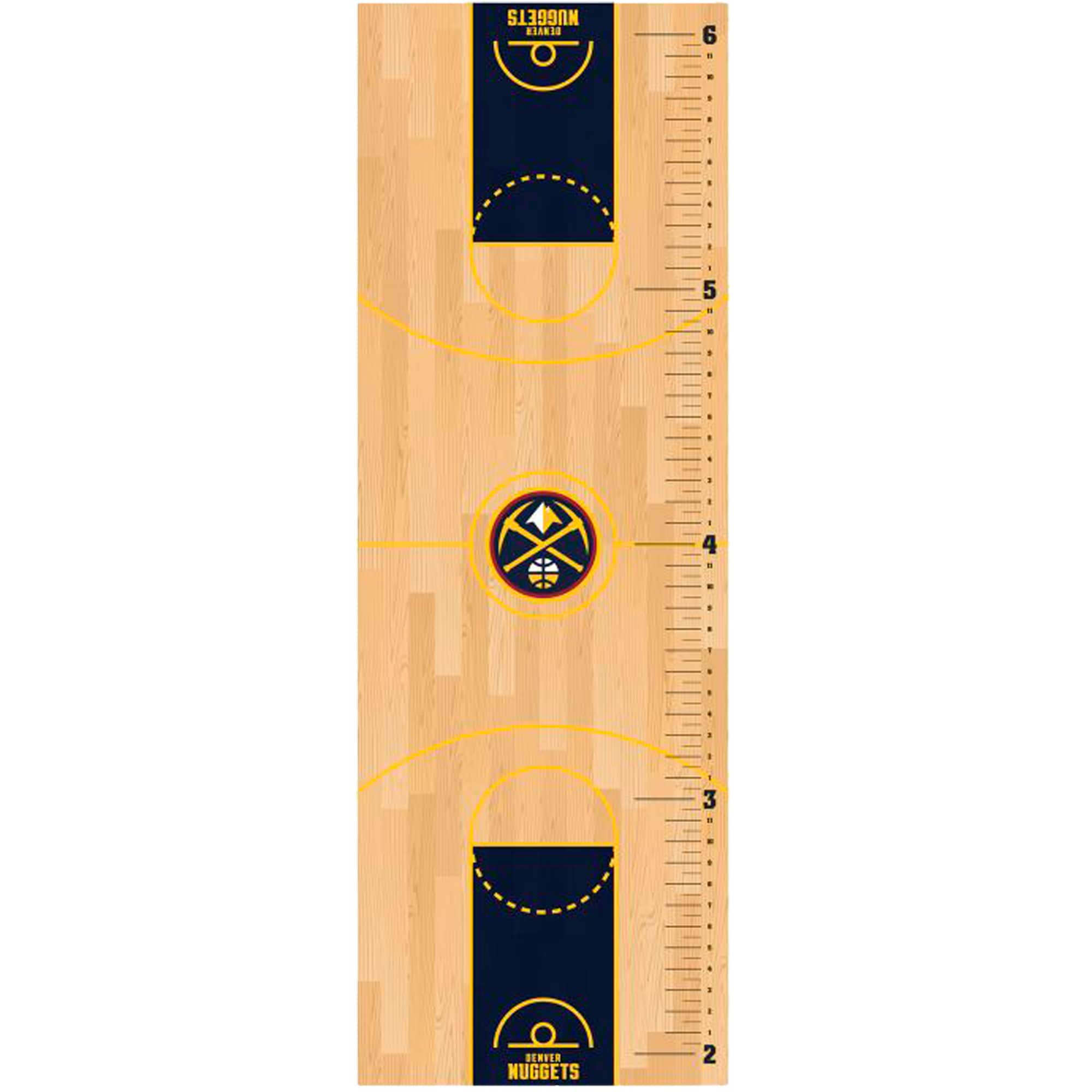 Denver Nuggets Fathead Basketball Court Large Removable Growth Chart