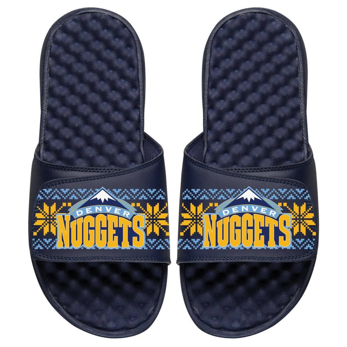 Denver Nuggets ISlide Ugly Sweater Slide Sandals - Navy