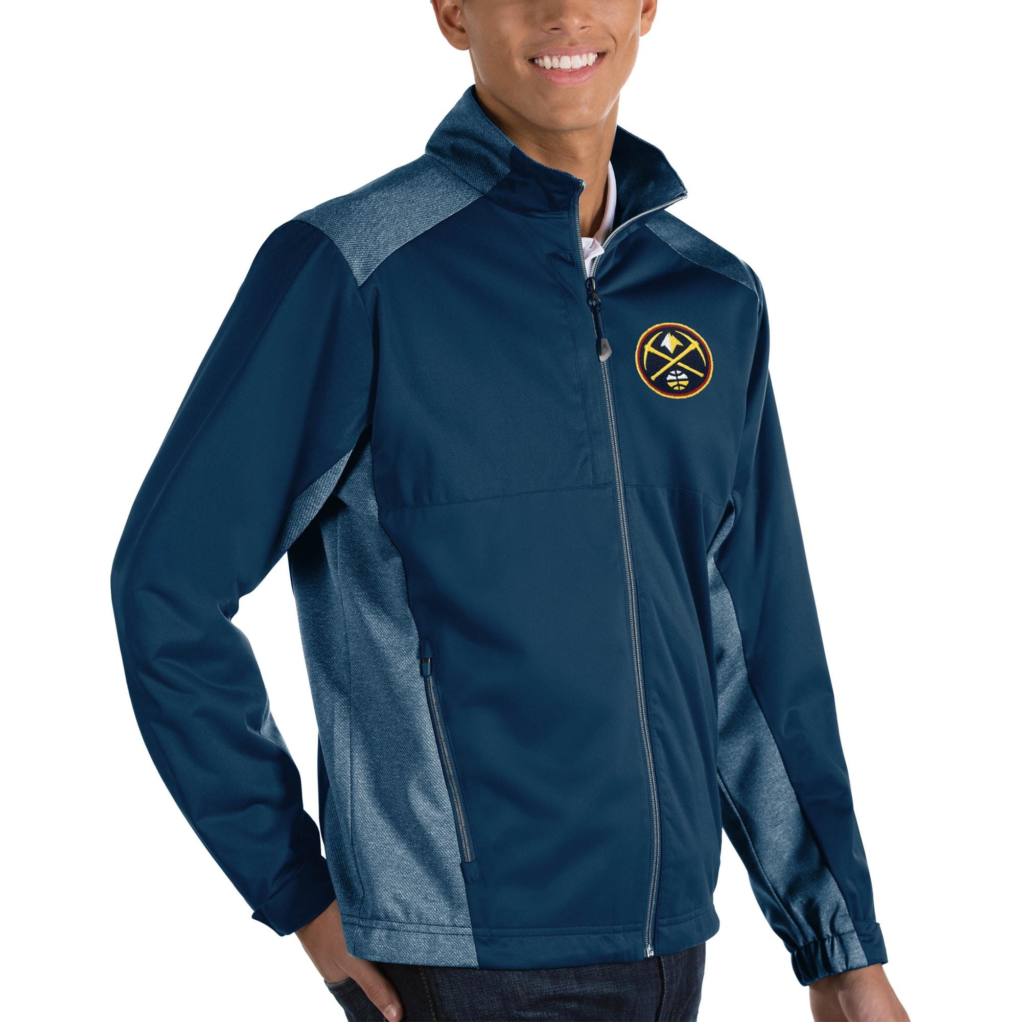 Denver Nuggets Antigua Revolve Big & Tall Full-Zip Jacket - Navy