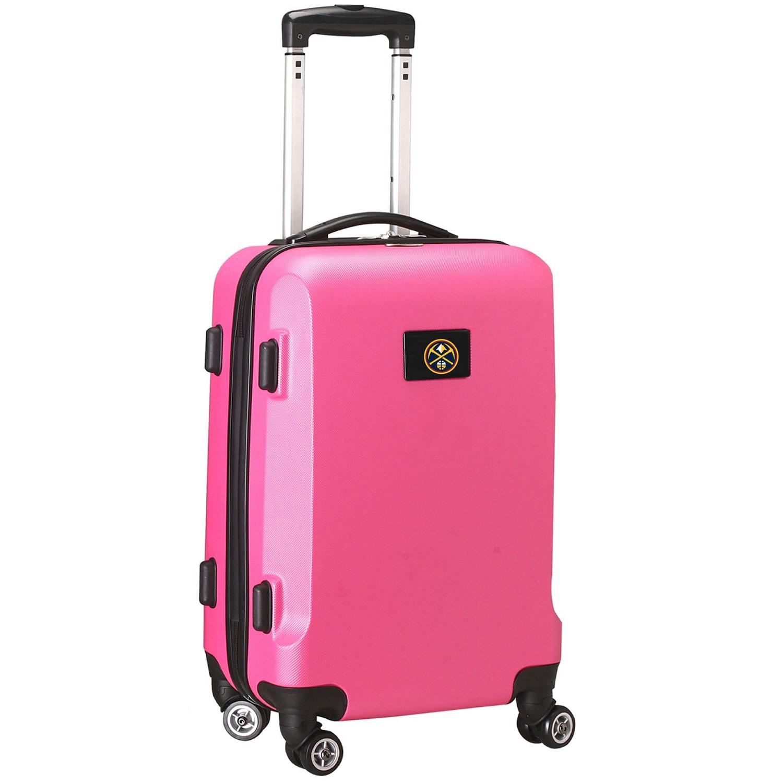 """Denver Nuggets 20"""" 8-Wheel Hardcase Spinner Carry-On - Pink"""