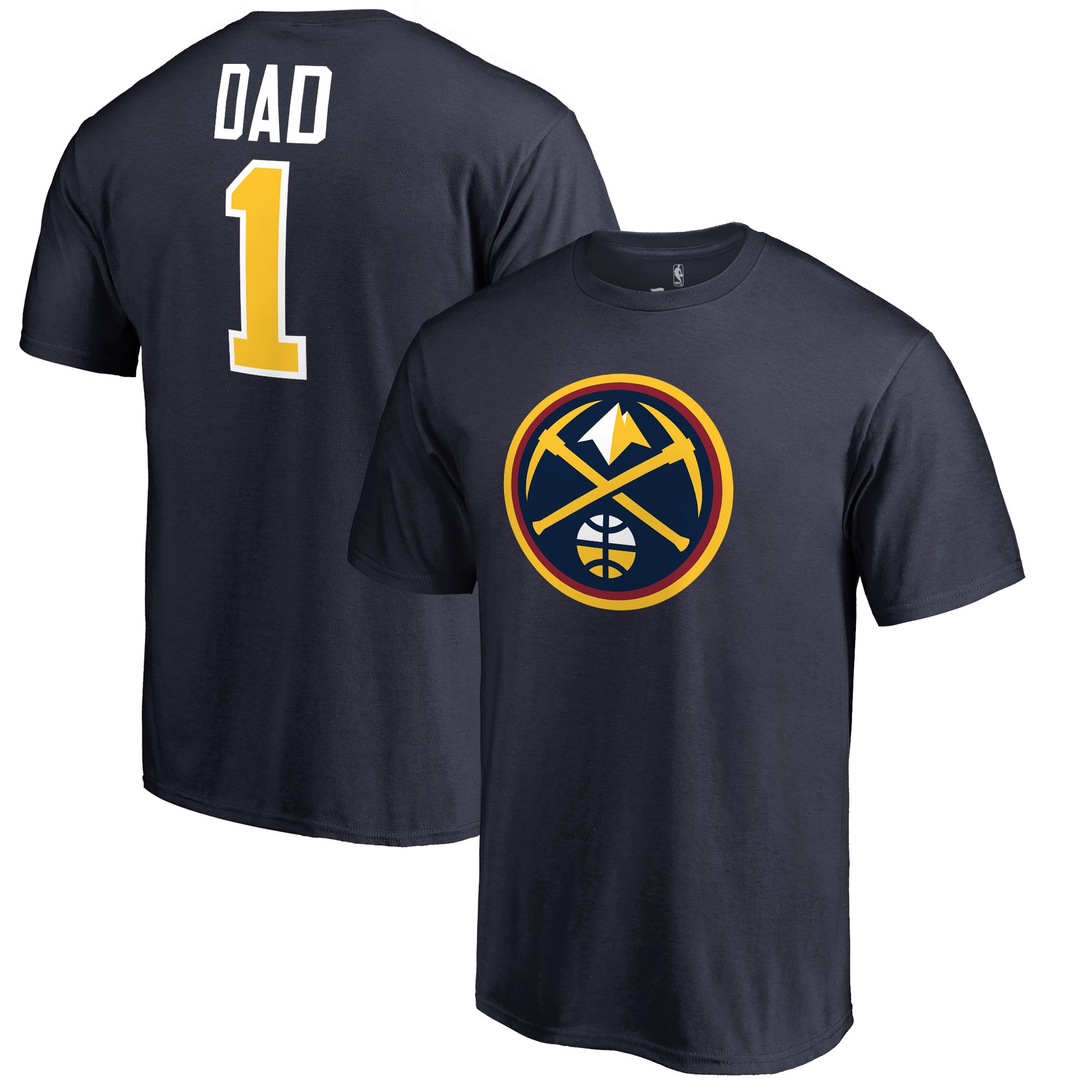 Denver Nuggets #1 Dad T-Shirt - Navy