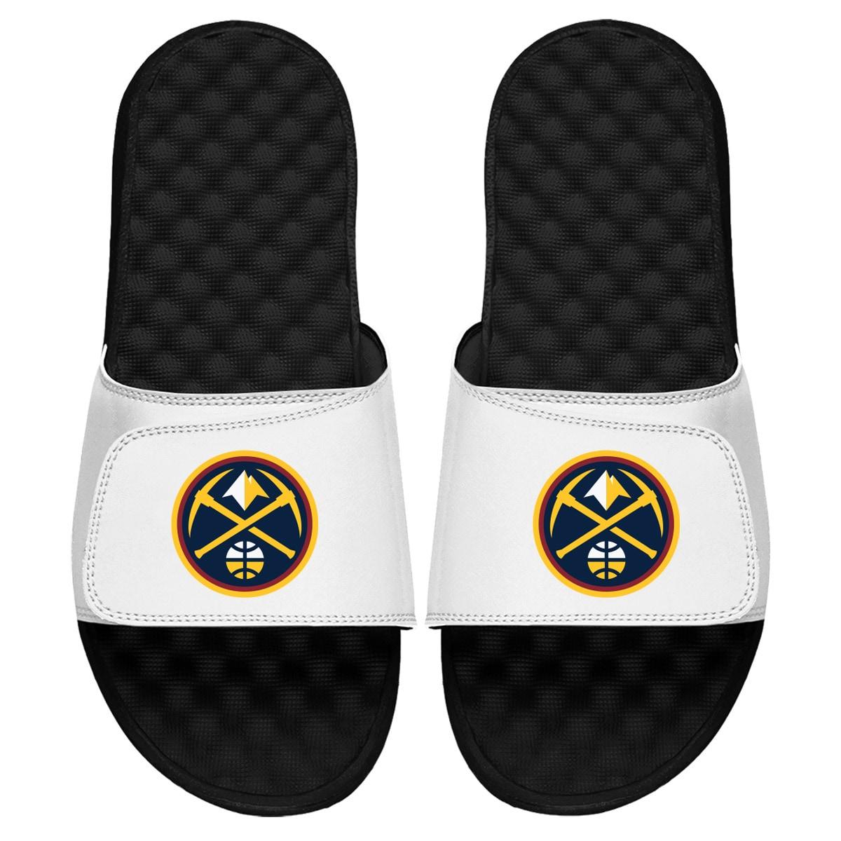 Denver Nuggets Primary iSlide Sandals - White