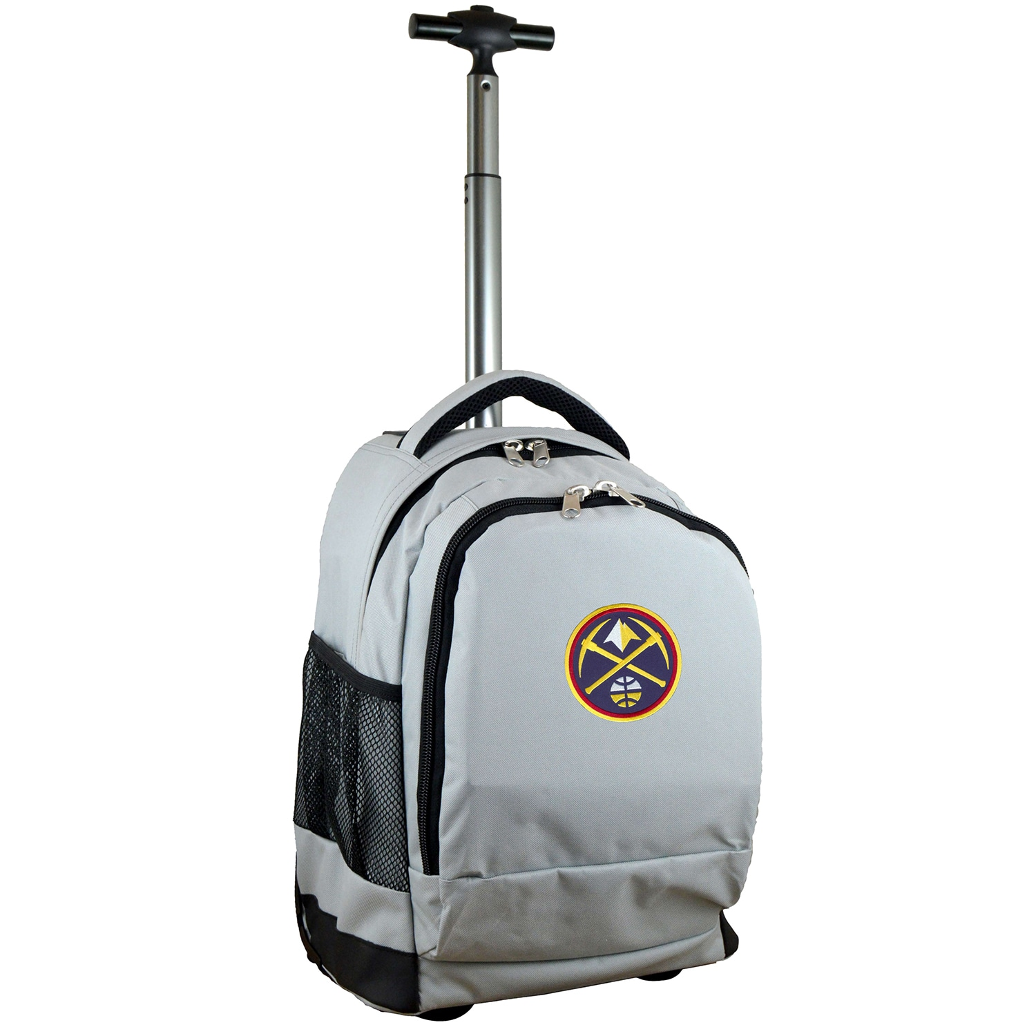 Denver Nuggets 19'' Premium Wheeled Backpack - Gray