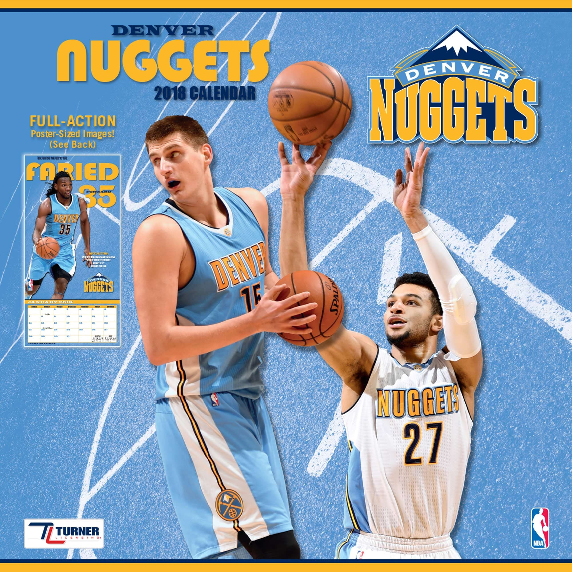 "Denver Nuggets 2018 12"" x 12"" Team Wall Calendar"