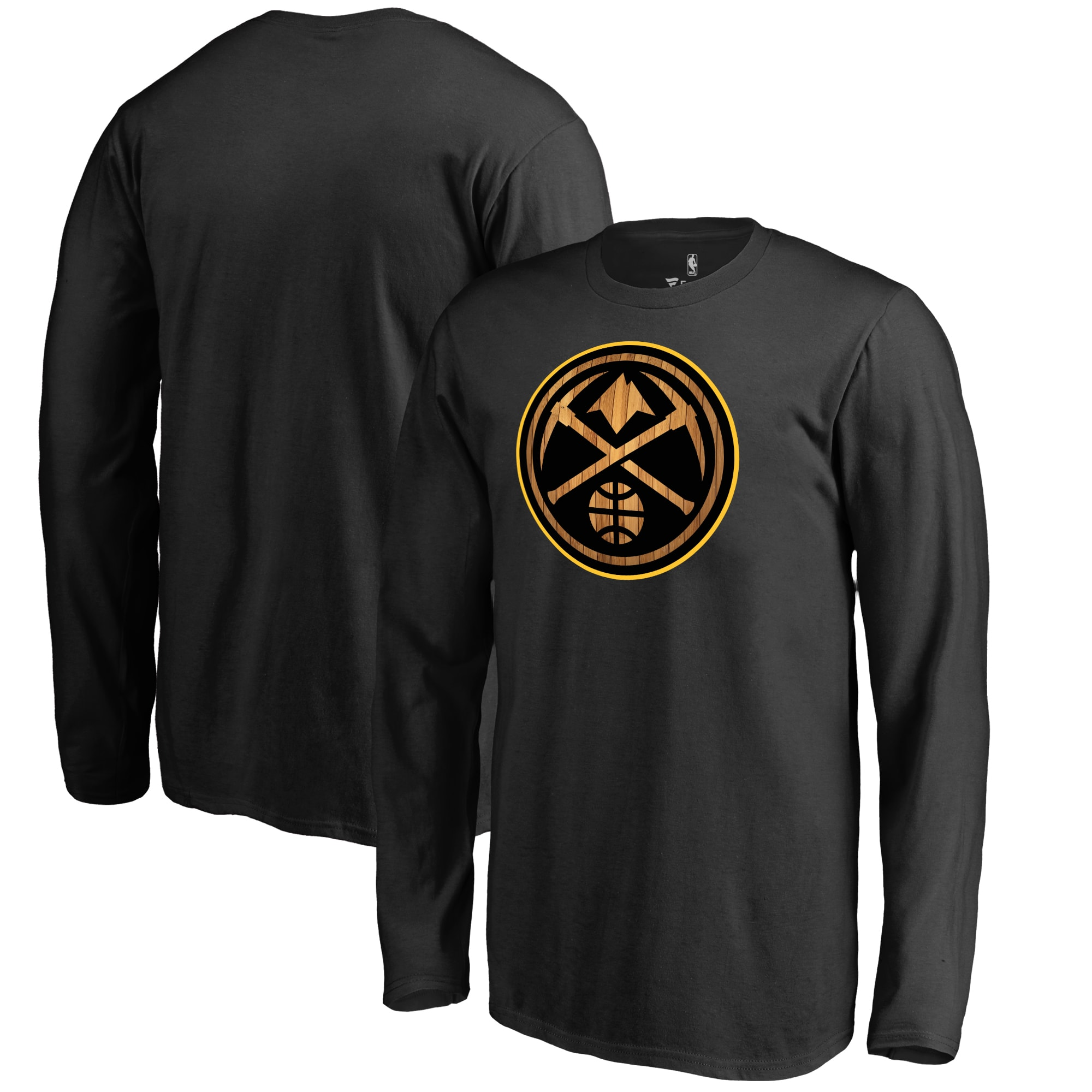 Denver Nuggets Fanatics Branded Youth Hardwood Long Sleeve T-Shirt - Black