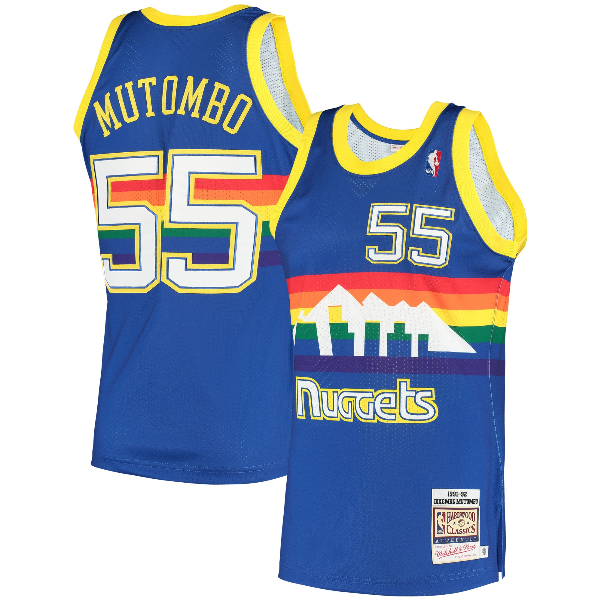 Dikembe Mutombo Denver Nuggets Mitchell & Ness 1991 Hardwood Classics Authentic Jersey - Royal