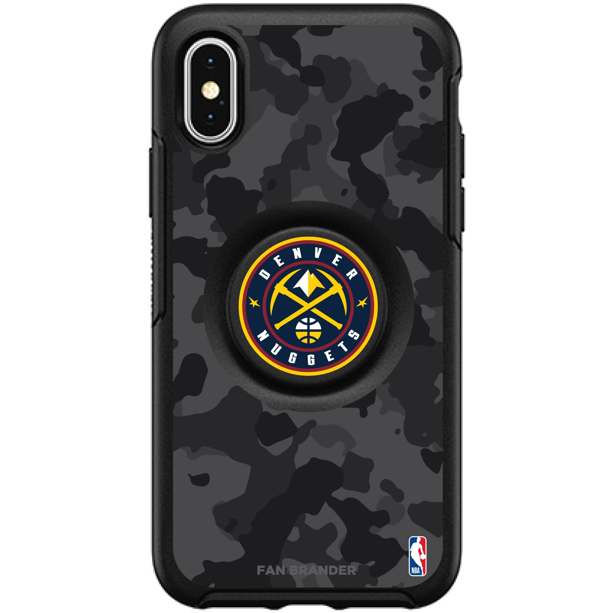 Denver Nuggets OtterBox Otter + PopSocket Symmetry Urban Camo iPhone Case