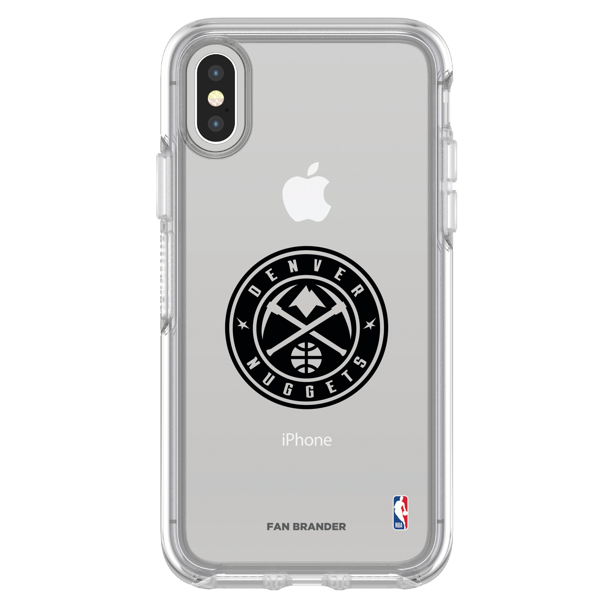 Denver Nuggets OtterBox Clear iPhone Symmetry Case