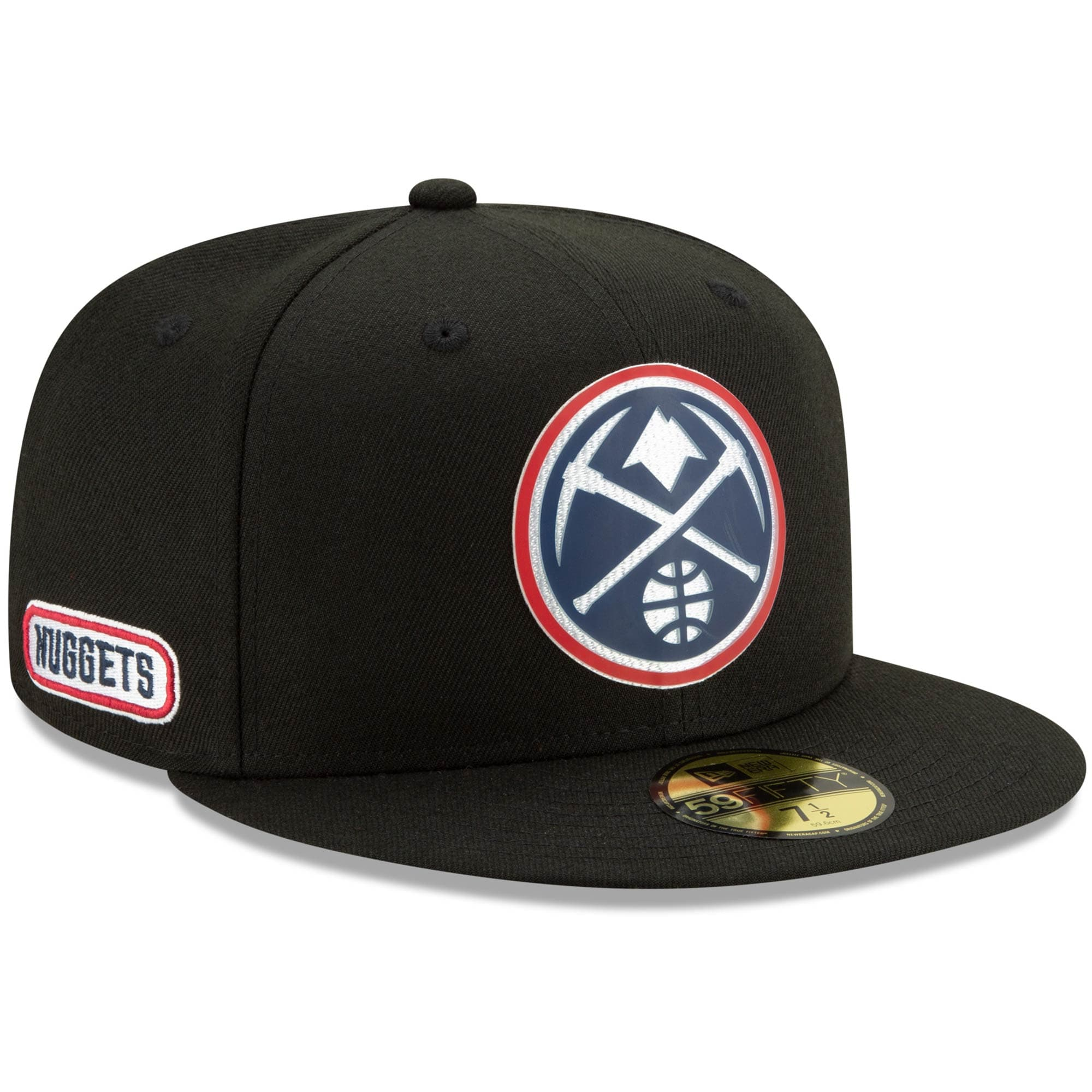 Denver Nuggets New Era Official Back Half 59FIFTY Fitted Hat - Black