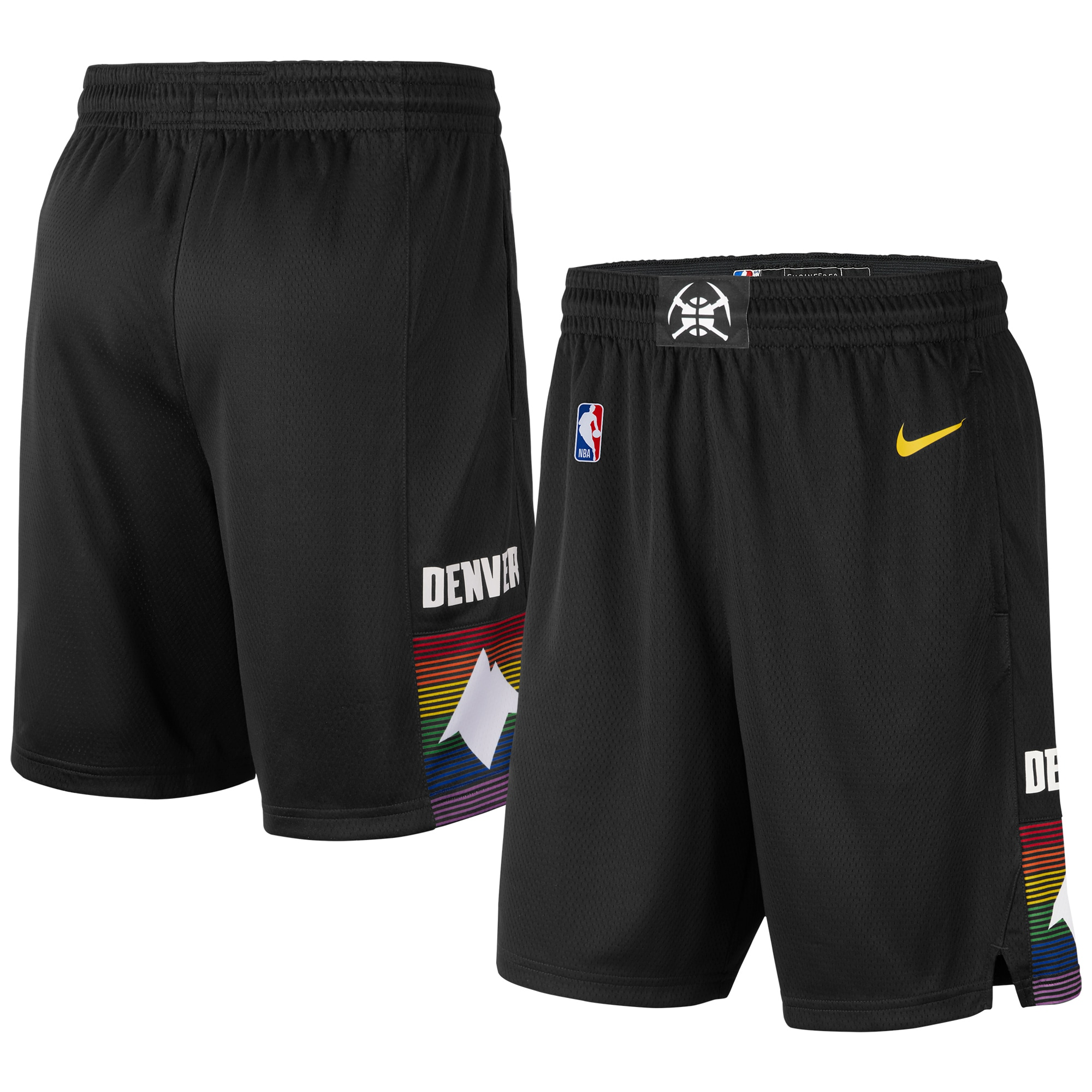 Denver Nuggets Nike Youth 2019/20 City Edition Swingman Shorts - Black