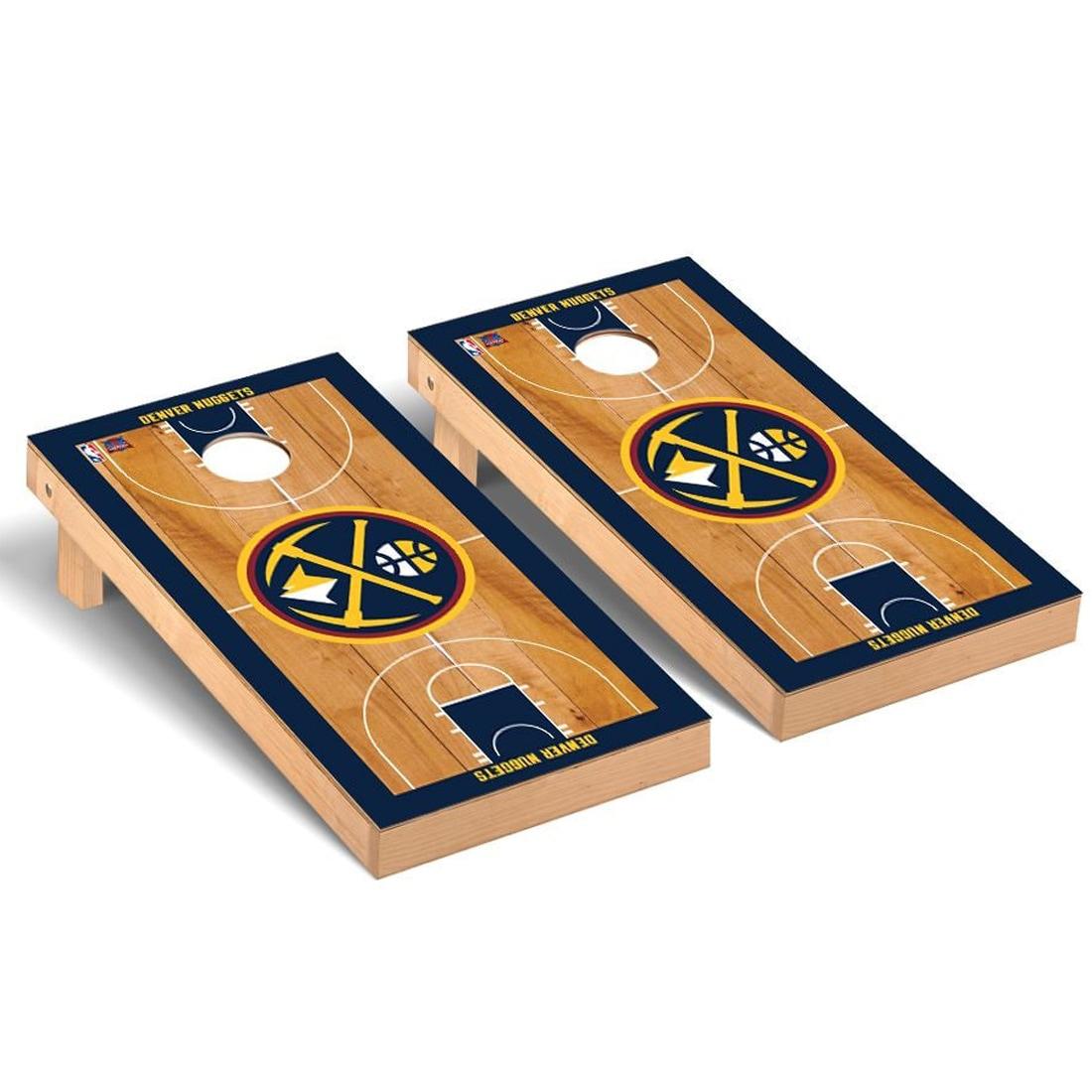 Denver Nuggets 2' x 4' Court Museum Cornhole Board Tailgate Toss Set