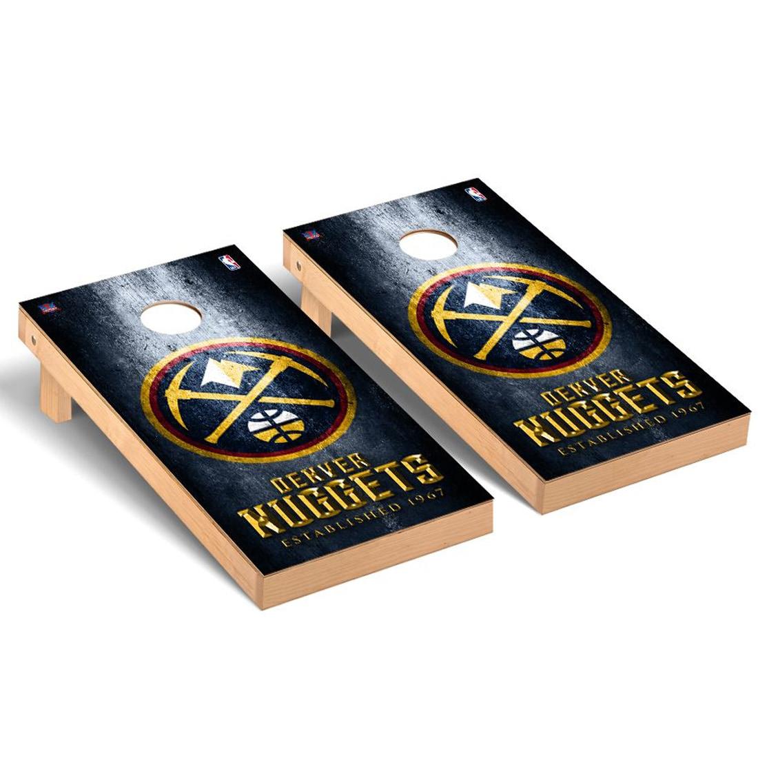 Denver Nuggets 2' x 4' Metal Museum Cornhole Board Tailgate Toss Set