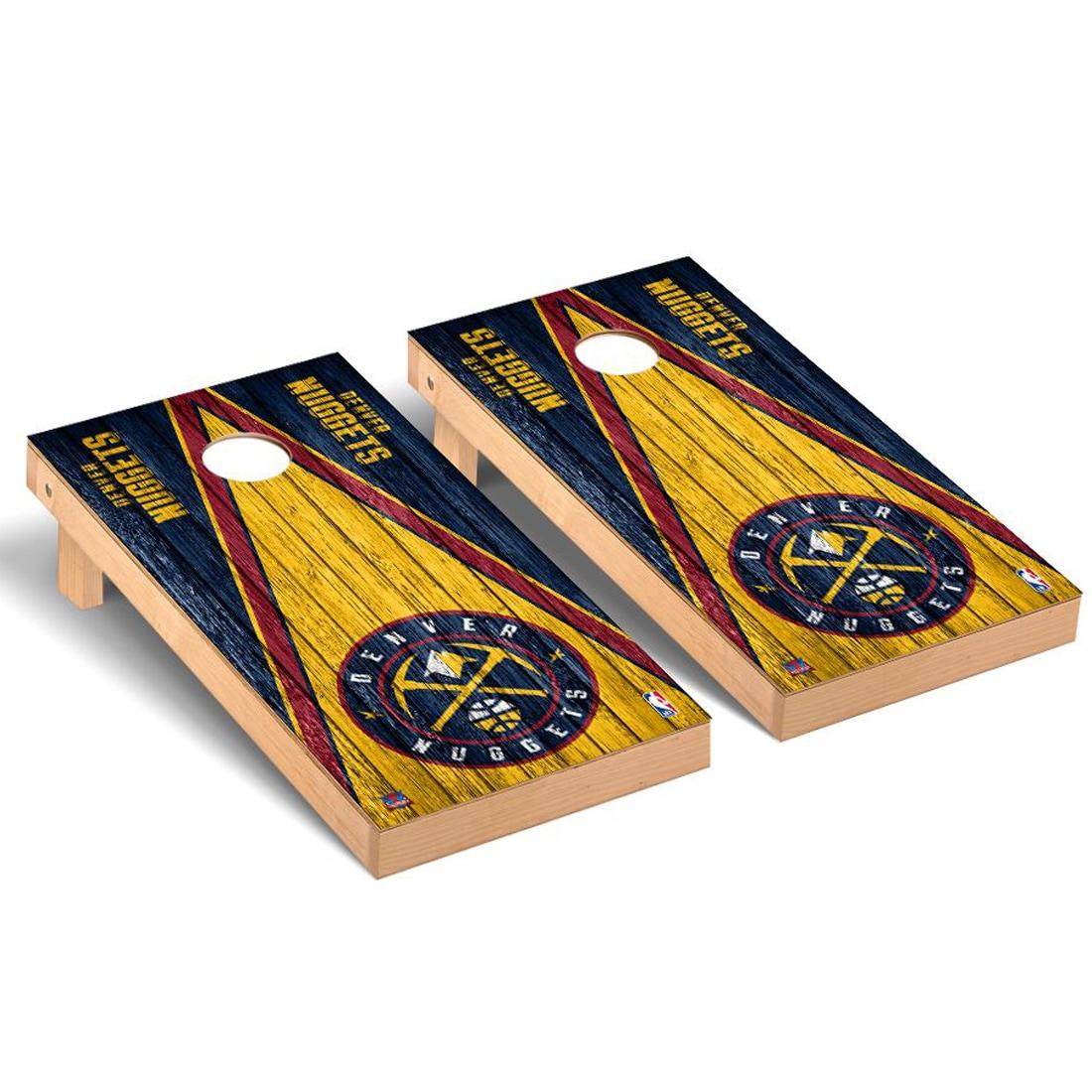 Denver Nuggets 2' x 4' Weathered Museum Cornhole Board Tailgate Toss Set