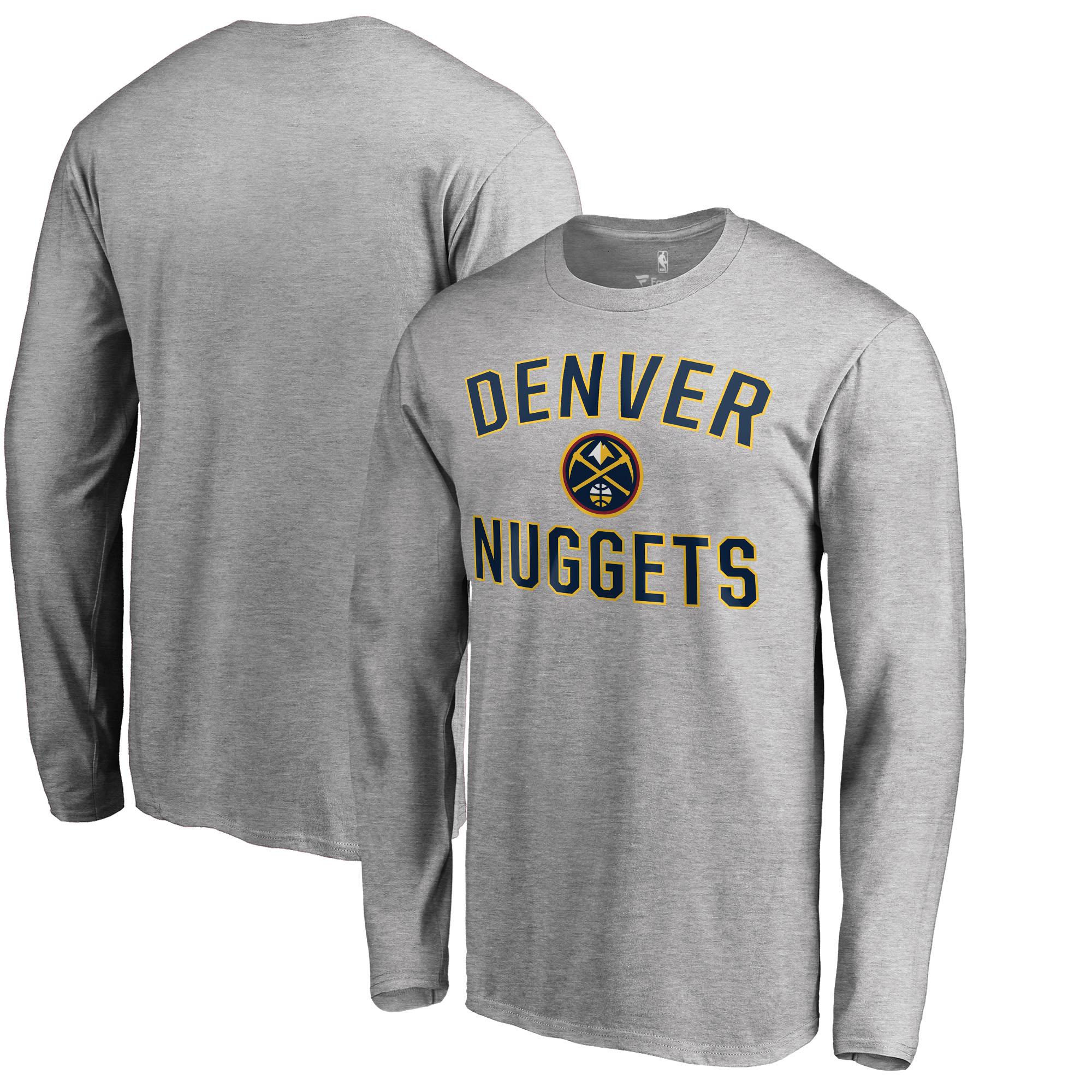Denver Nuggets Big & Tall Victory Arch Long Sleeve T-Shirt - Ash