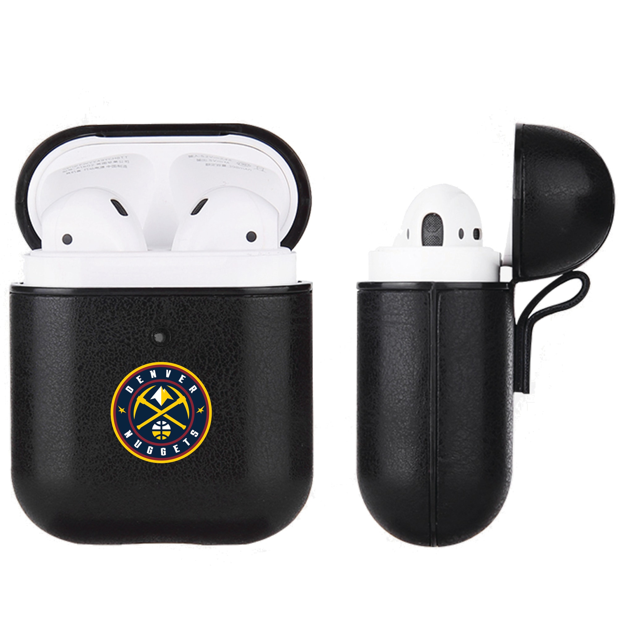 Denver Nuggets Air Pods Black Leatherette Case