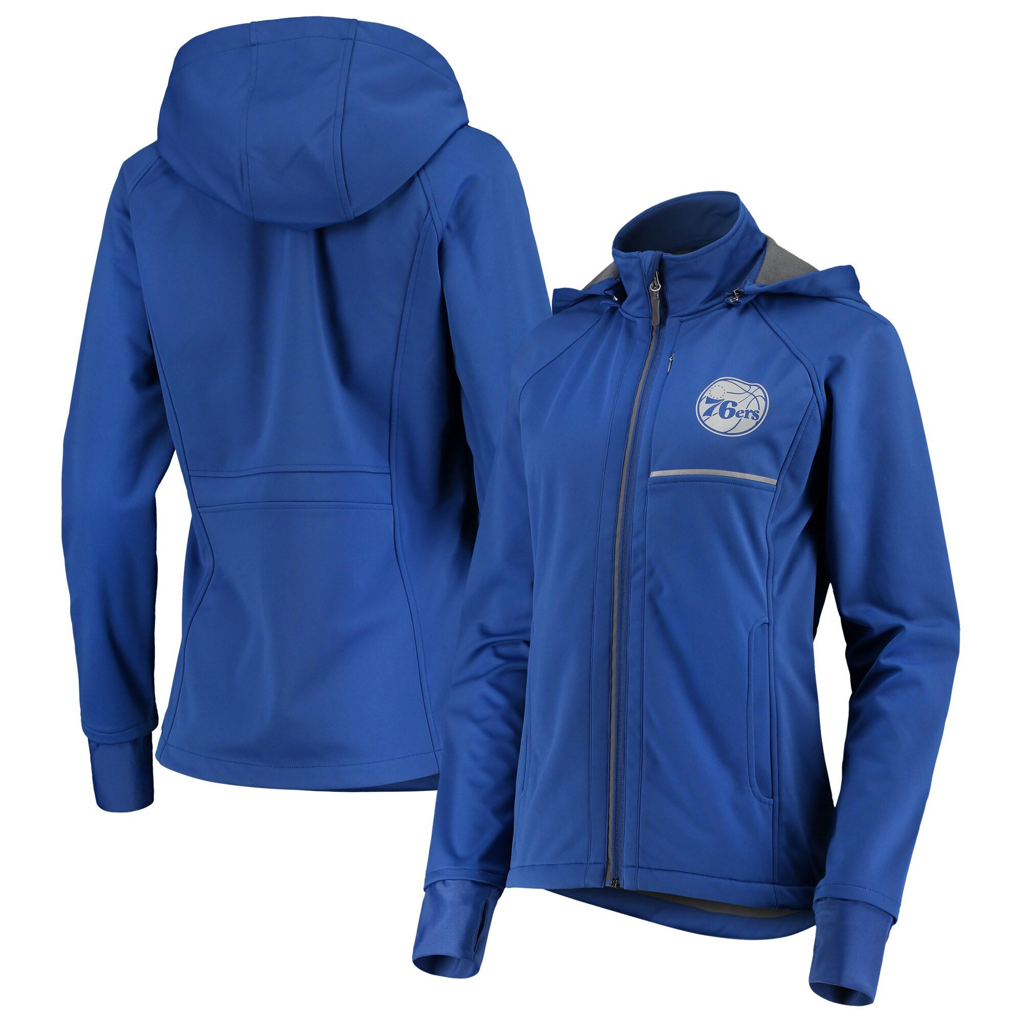 Philadelphia 76ers G-III 4Her by Carl Banks Women's Cut Back Soft Shell Full-Zip Jacket - Royal