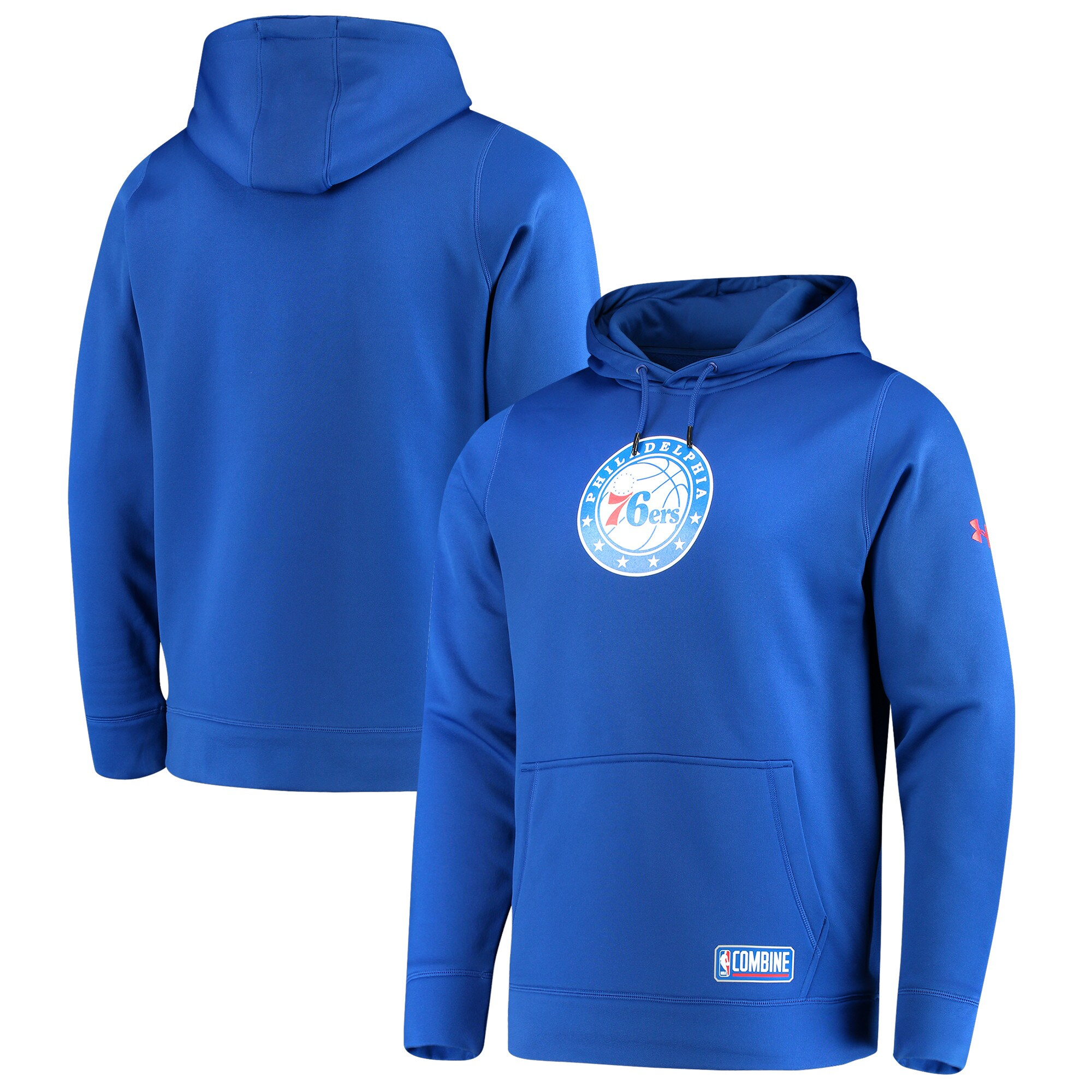 Philadelphia 76ers Under Armour Team Logo Performance Fleece Pullover Hoodie - Royal