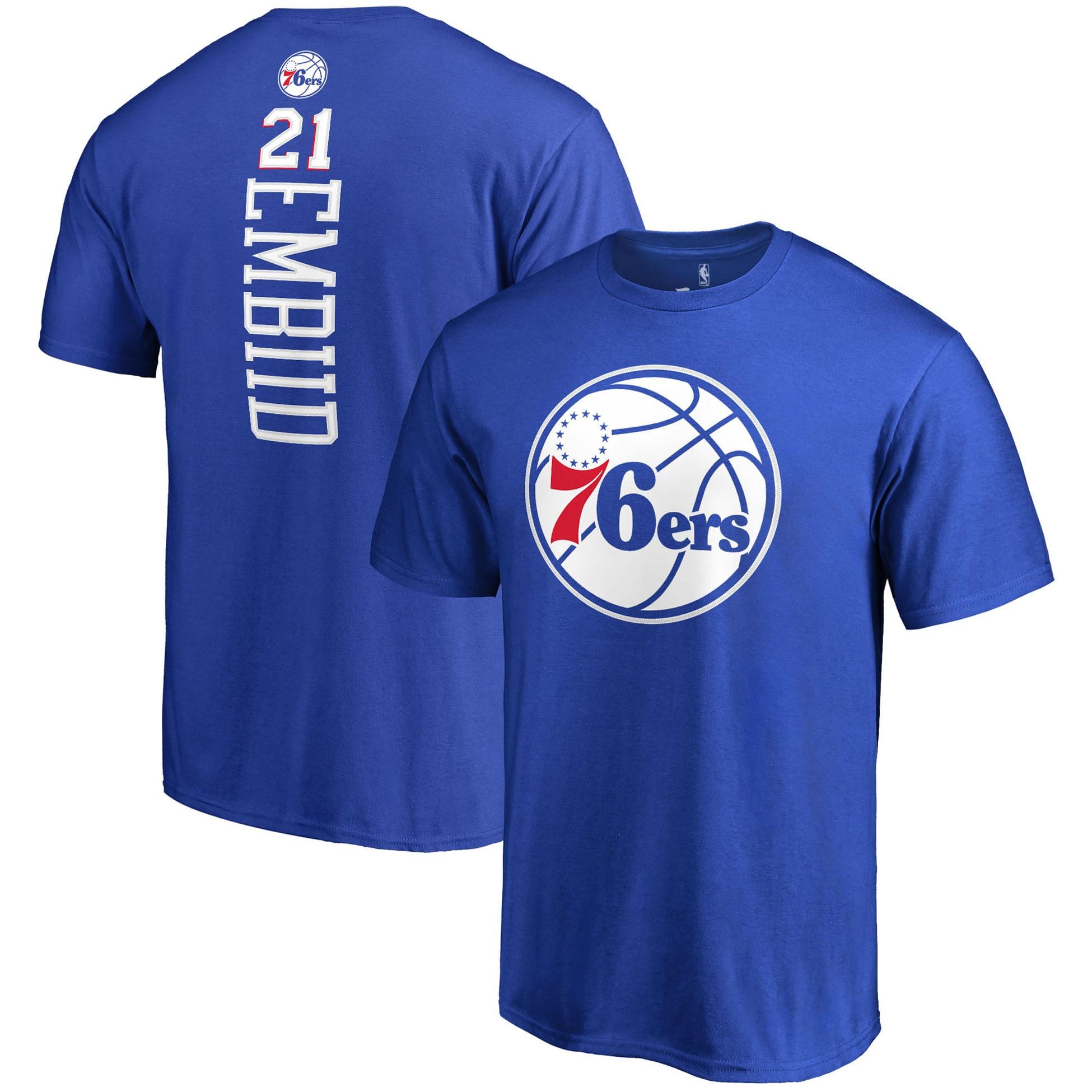 Joel Embiid Philadelphia 76ers Fanatics Branded Team Backer Name & Number T-Shirt - Royal