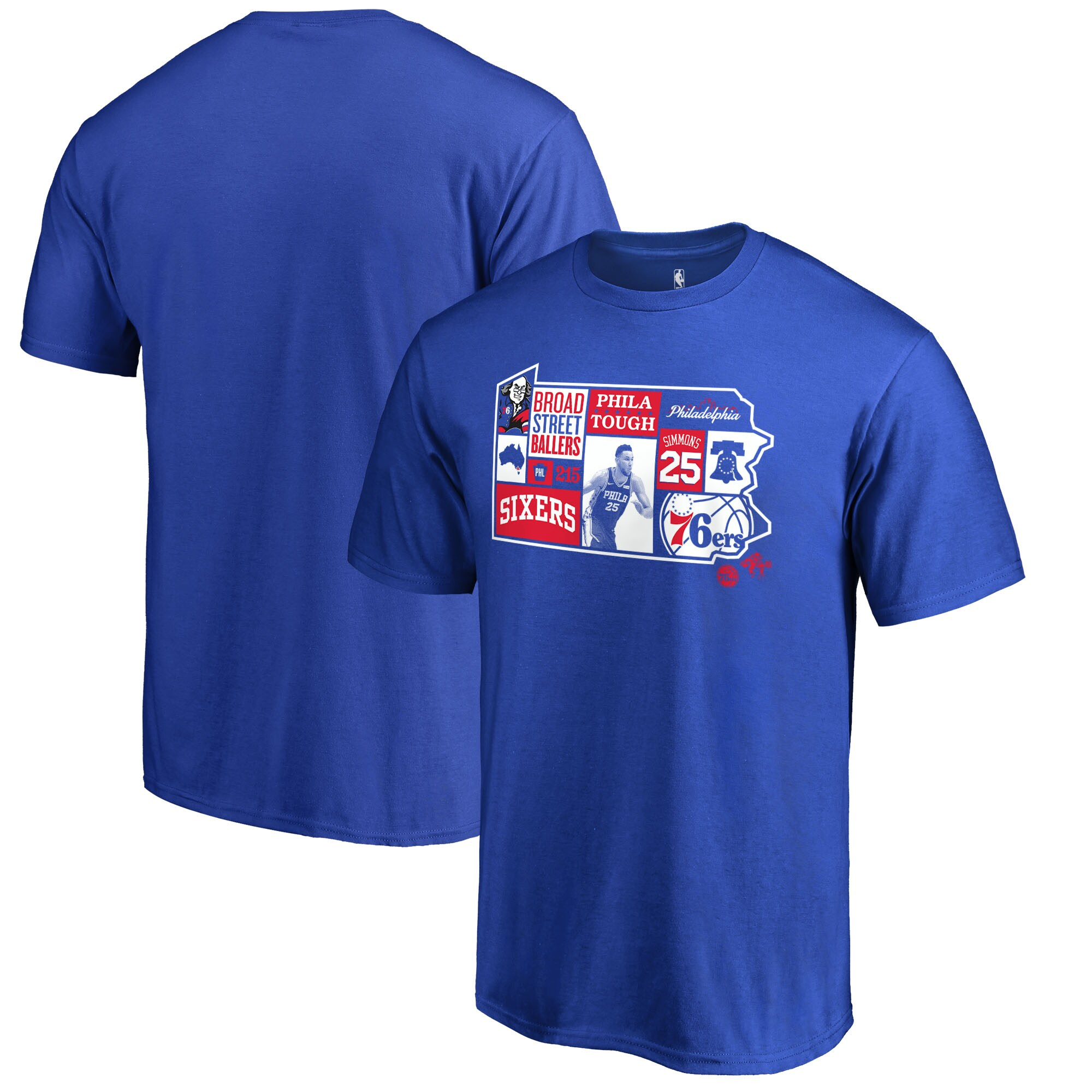 Ben Simmons Philadelphia 76ers Fanatics Branded Player State T-Shirt - Royal