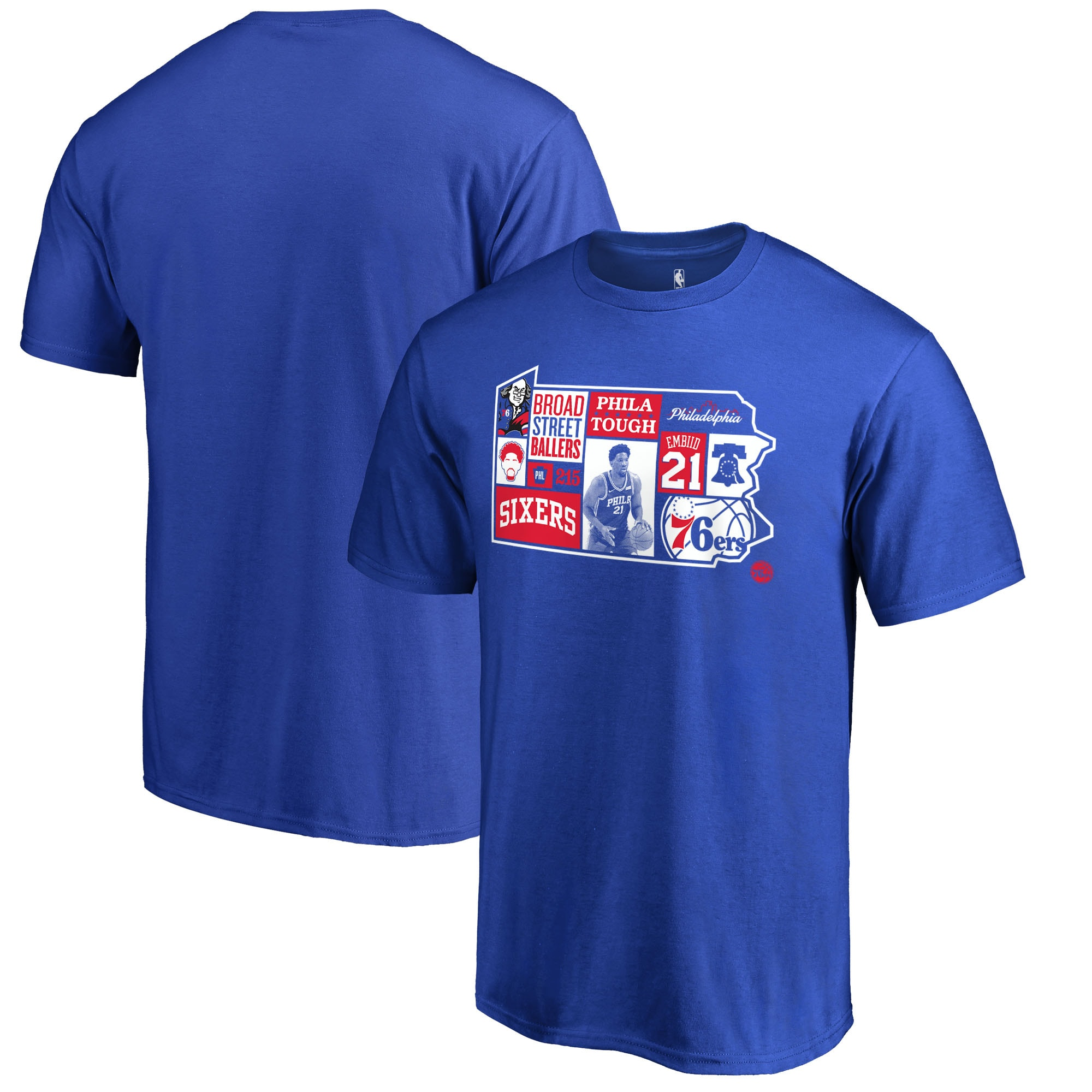 Joel Embiid Philadelphia 76ers Fanatics Branded Player State T-Shirt - Royal