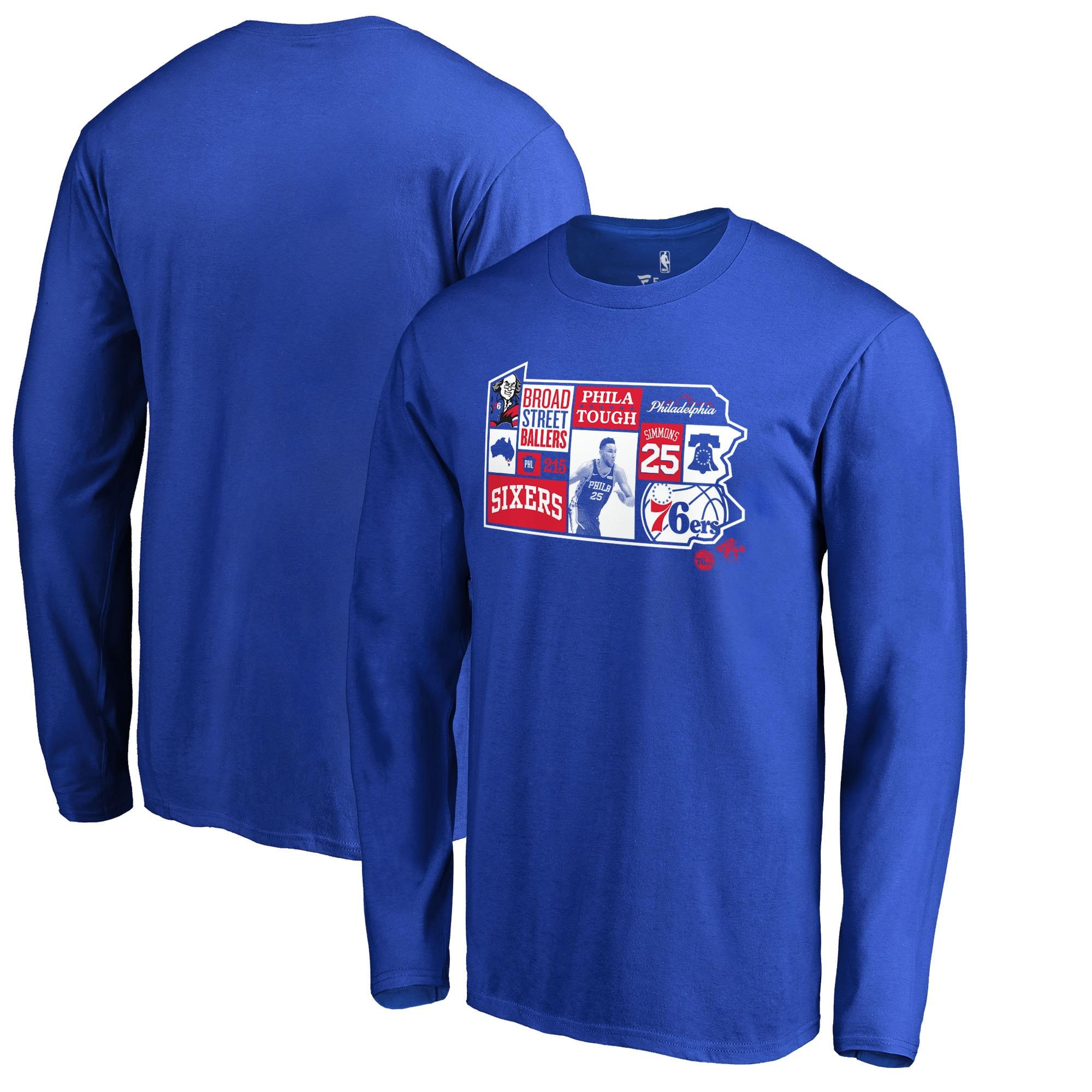 Ben Simmons Philadelphia 76ers Fanatics Branded Player State Long Sleeve T-Shirt - Royal