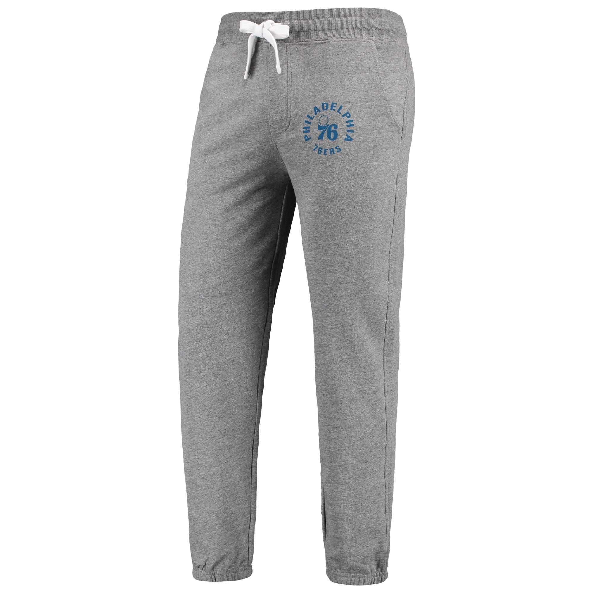 Philadelphia 76ers Sportiqe Quincy French Terry Classic Sweatpants - Gray