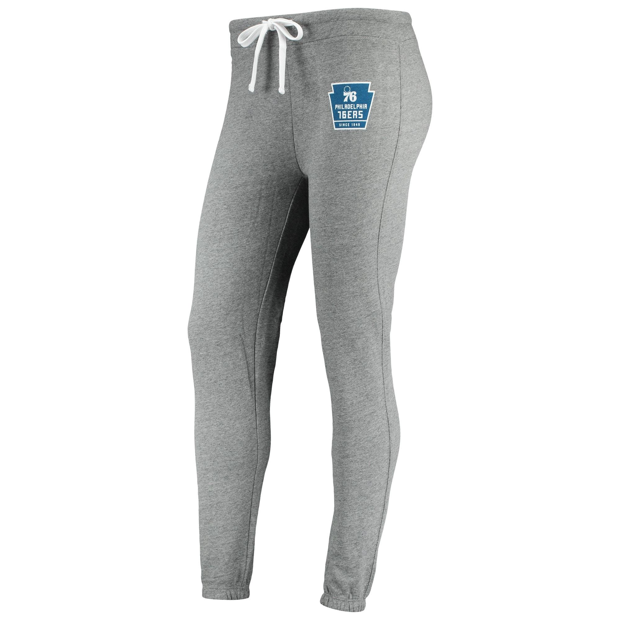 Philadelphia 76ers Sportiqe Women's Dundee Classic Sweatpants - Gray