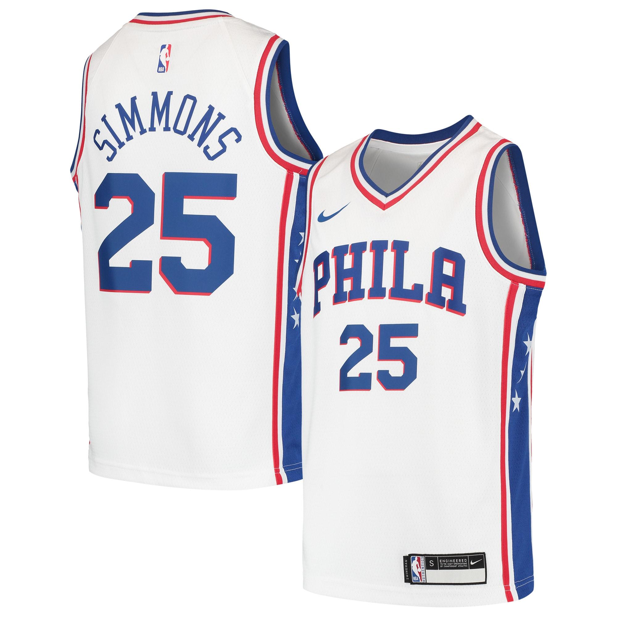 Ben Simmons Philadelphia 76ers Nike Youth Swingman Jersey - White