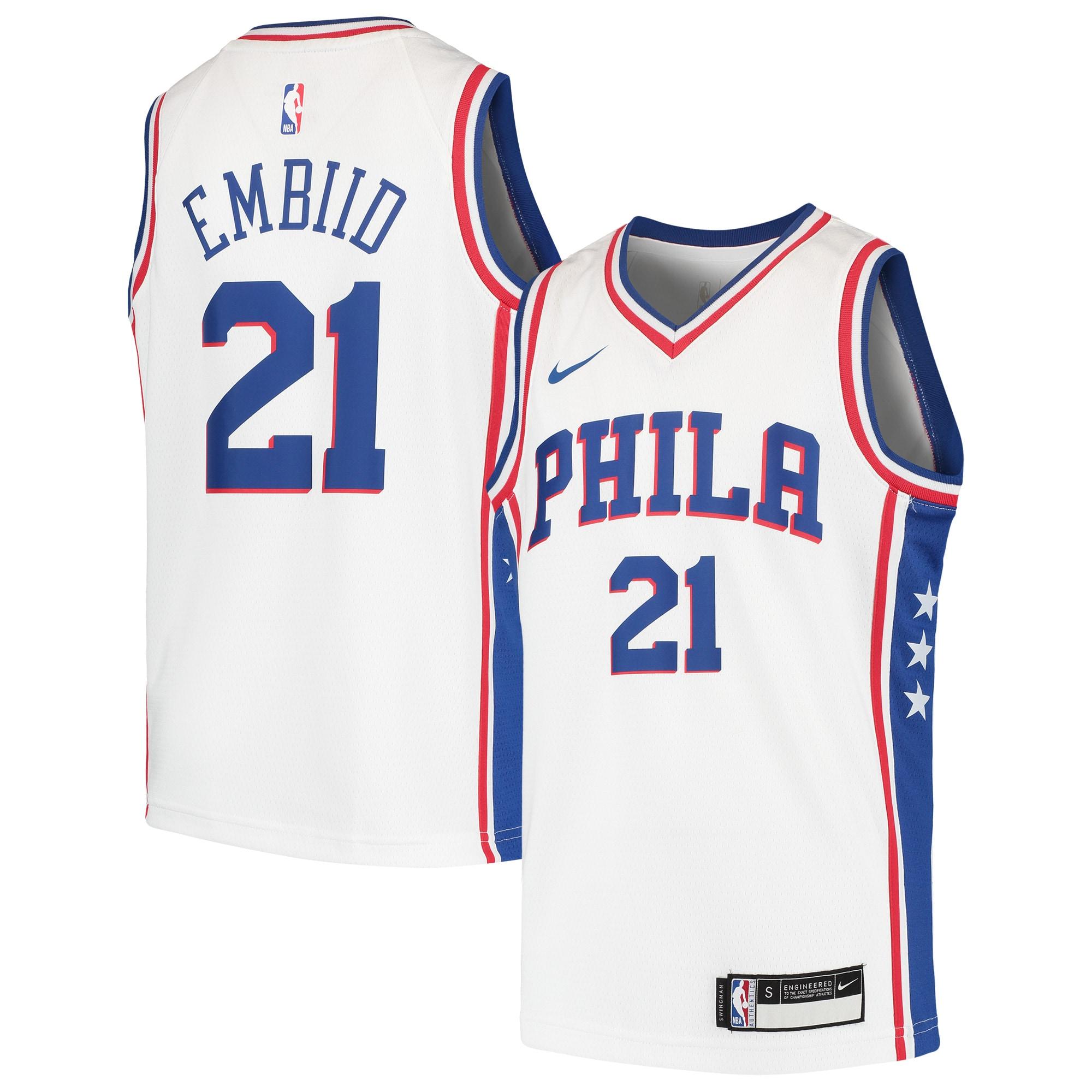 Joel Embiid Philadelphia 76ers Nike Youth Swingman Jersey - White