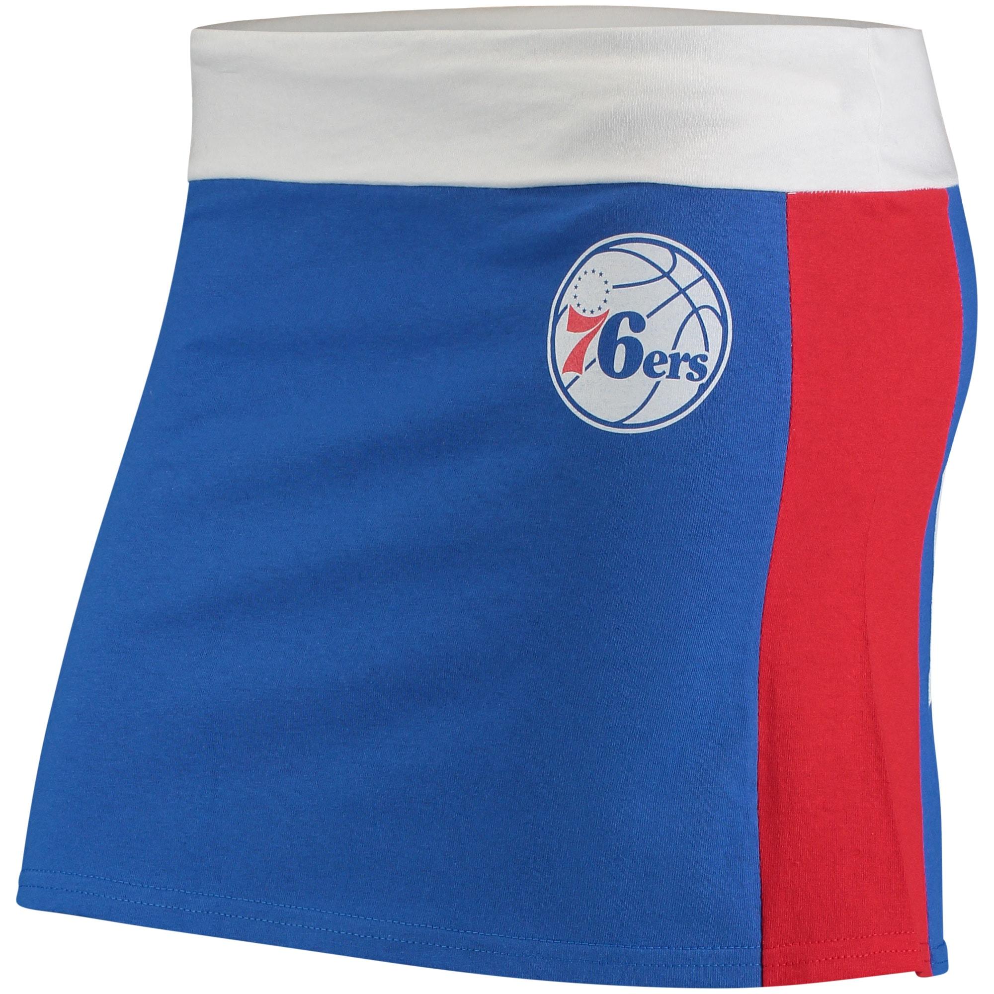 Philadelphia 76ers Refried Tees Women's Tee Mini Skirt - Royal/Red