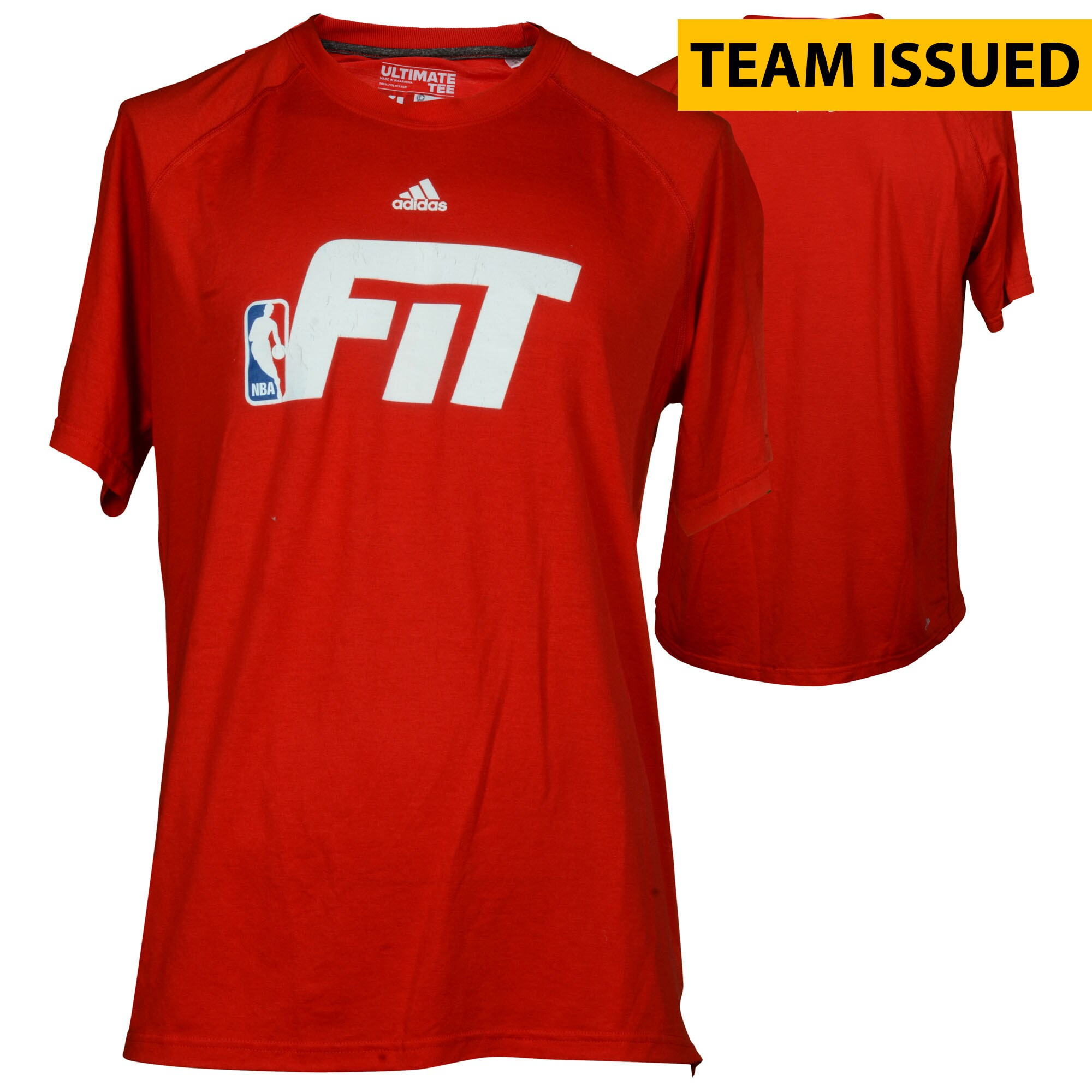 """Philadelphia 76ers Fanatics Authentic Team-Issued Red """"Fit"""" Shooter Shirt from the 2016-17 NBA Season - Size XL"""