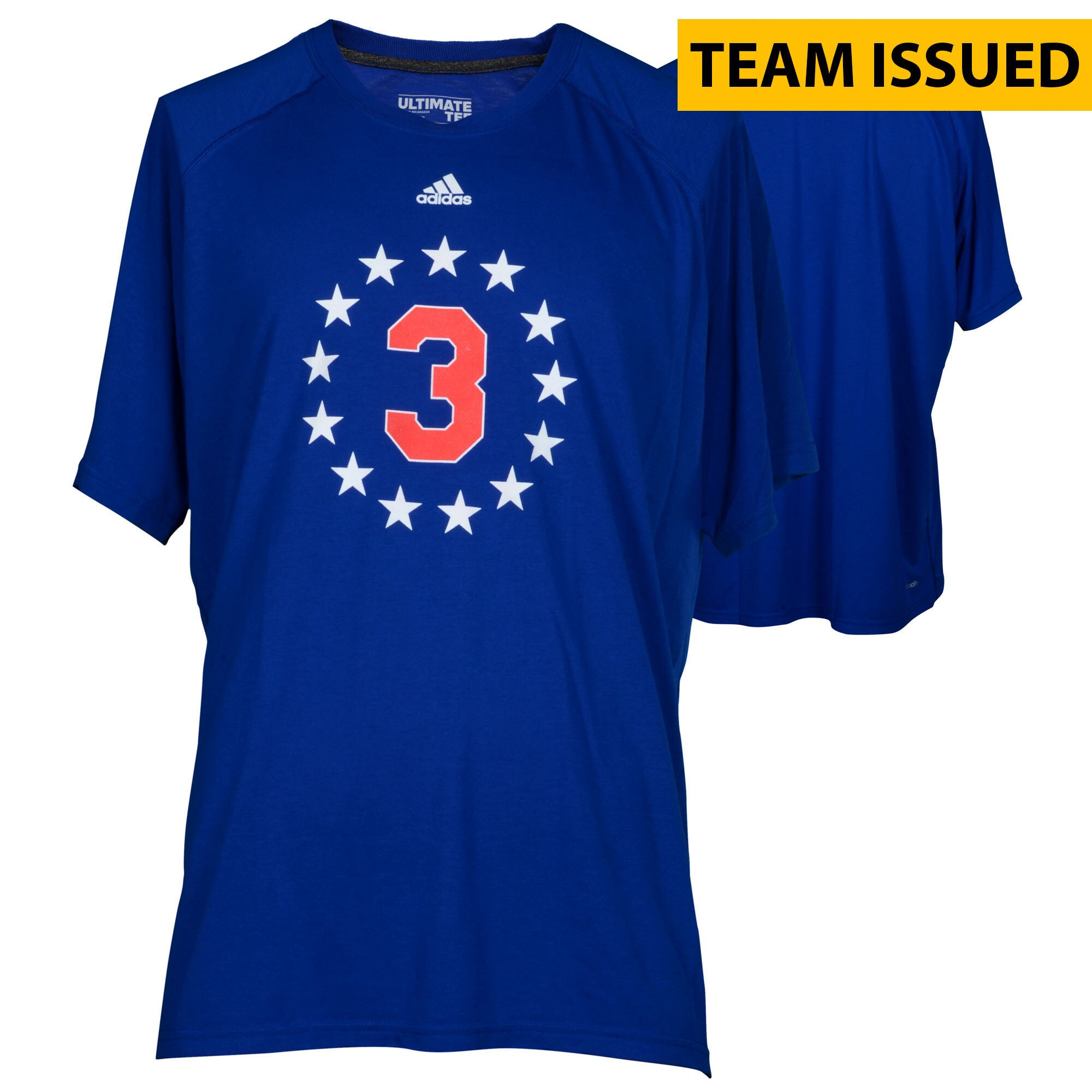 Philadelphia 76ers Fanatics Authentic Team-Issued Blue Iverson Night Shooter Shirt from the 2016-17 NBA Season - Size Large