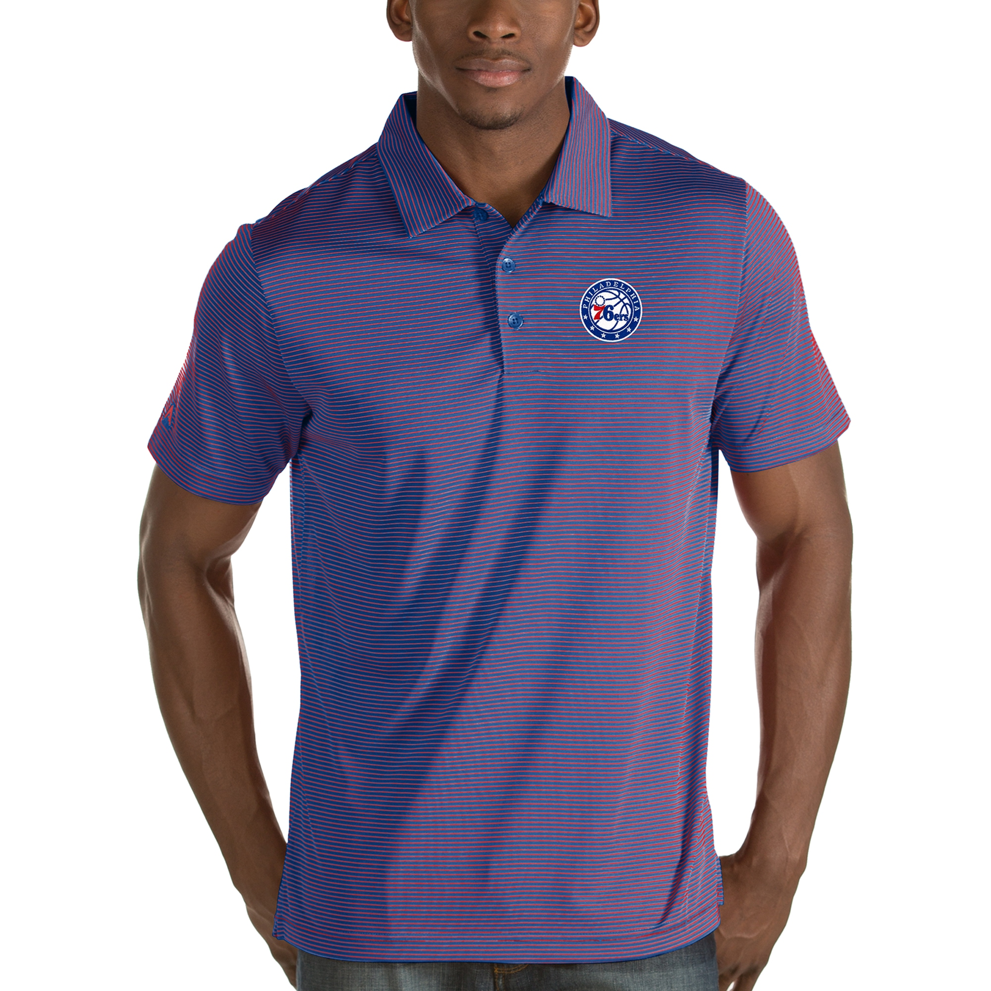 Philadelphia 76ers Antigua Quest Polo - Royal