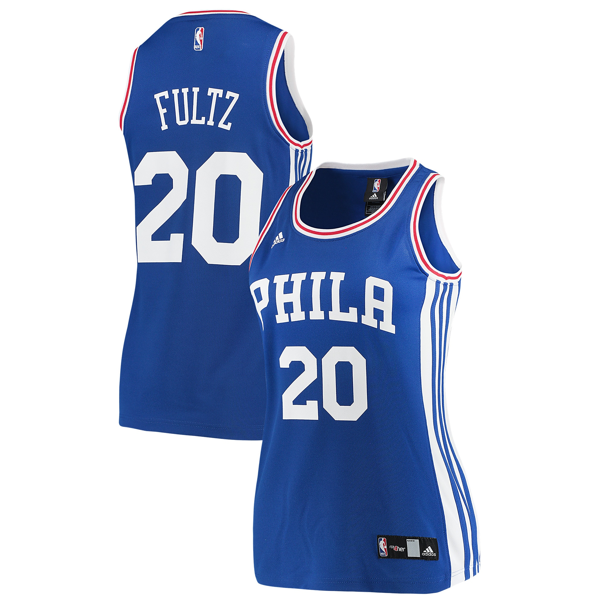 Markelle Fultz Philadelphia 76ers adidas Women's Road Replica Jersey - Royal