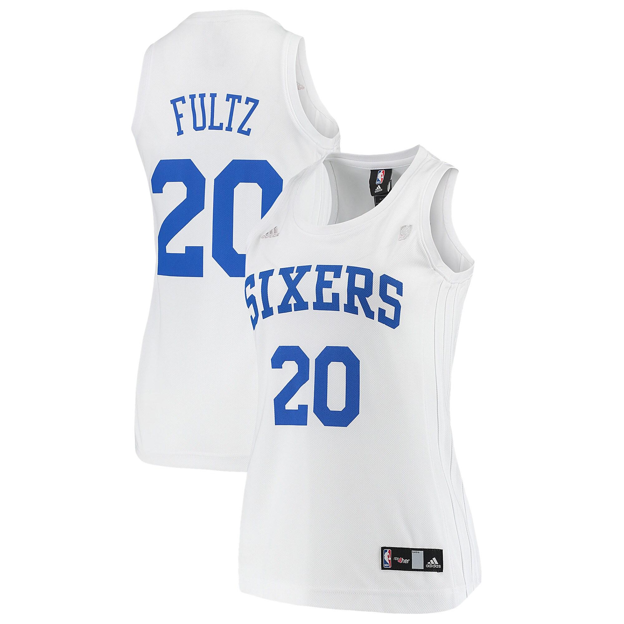 Markelle Fultz Philadelphia 76ers adidas Women's Home Replica Jersey - White