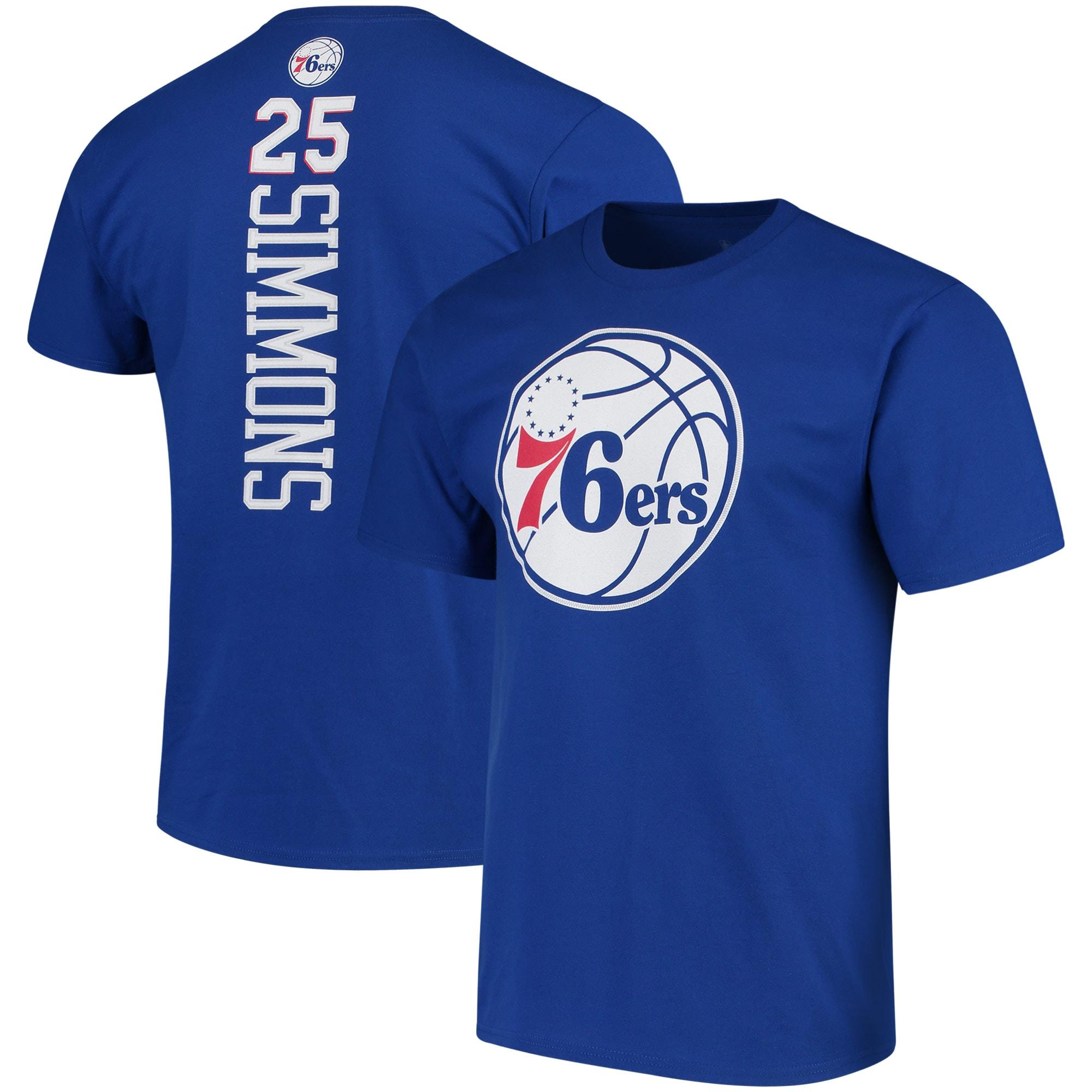 Ben Simmons Philadelphia 76ers Fanatics Branded Backer Name & Number T-Shirt - Royal