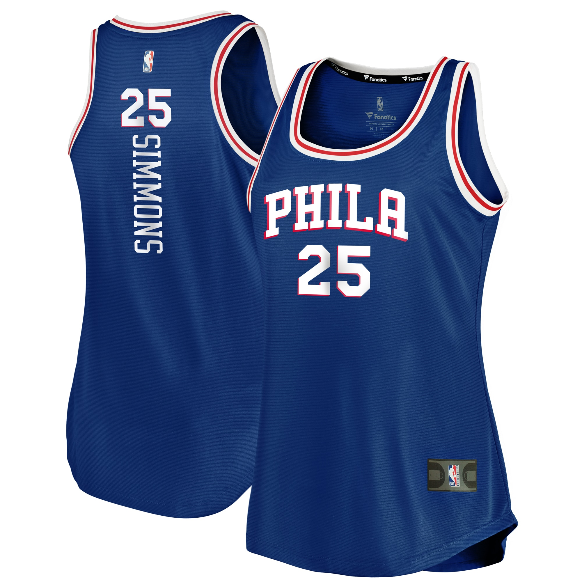 Ben Simmons Philadelphia 76ers Fanatics Branded Women's Fast Break Tank Jersey - Icon Edition - Royal