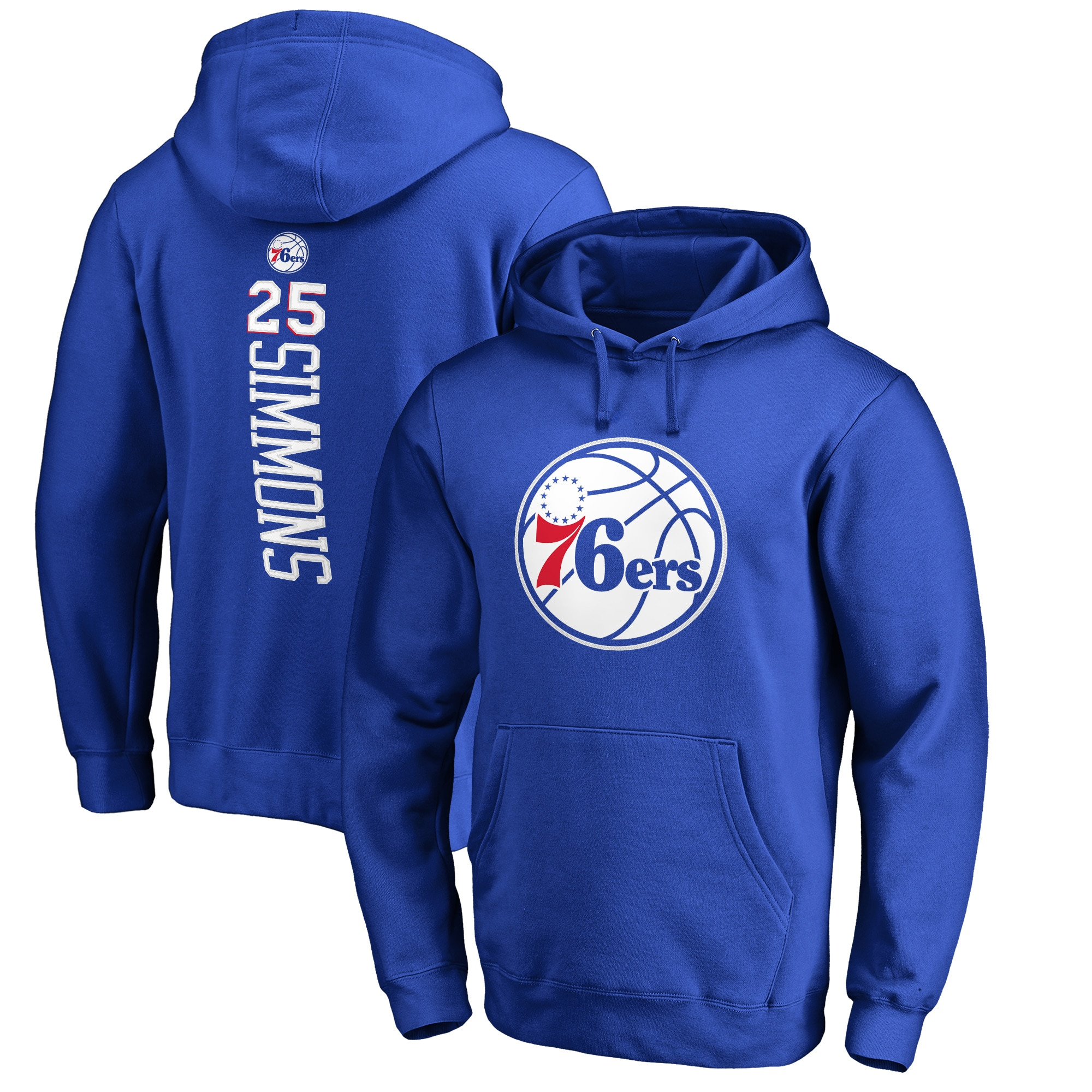 Ben Simmons Philadelphia 76ers Fanatics Branded Backer Name & Number Pullover Hoodie - Royal