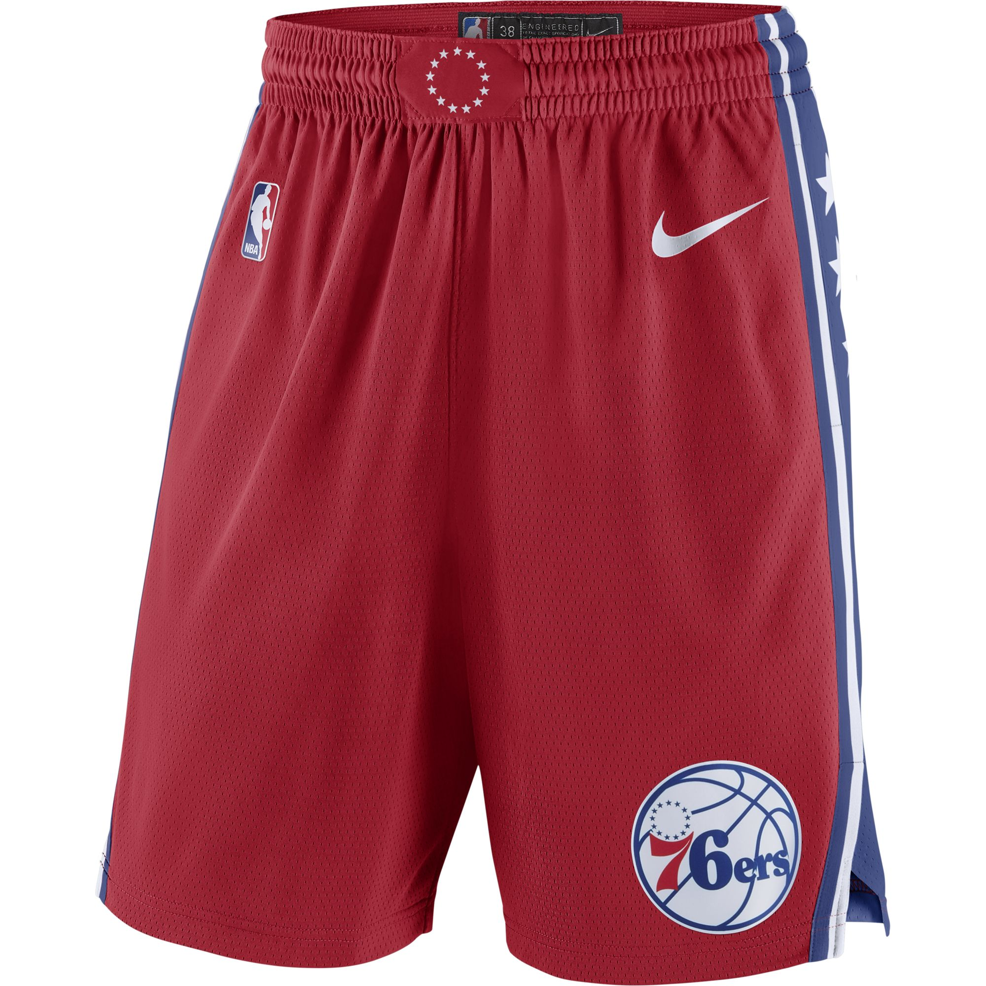 Philadelphia 76ers Nike 2019/20 Statement Edition Swingman Shorts - Red