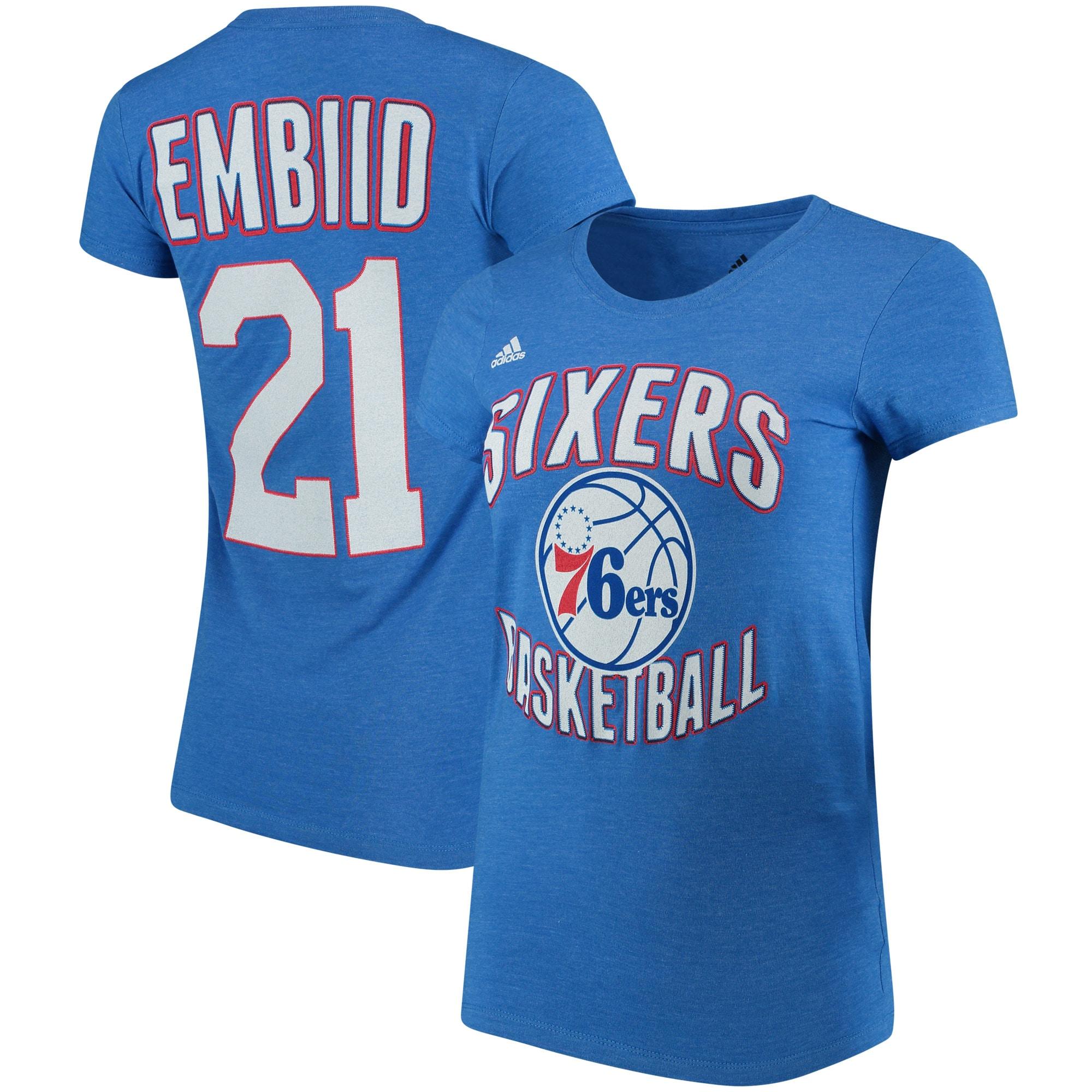 Joel Embiid Philadelphia 76ers adidas Women's Name & Number T-Shirt - Royal